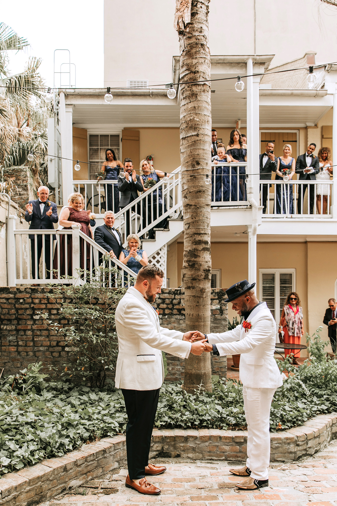 joe tim new orleans wedding first look