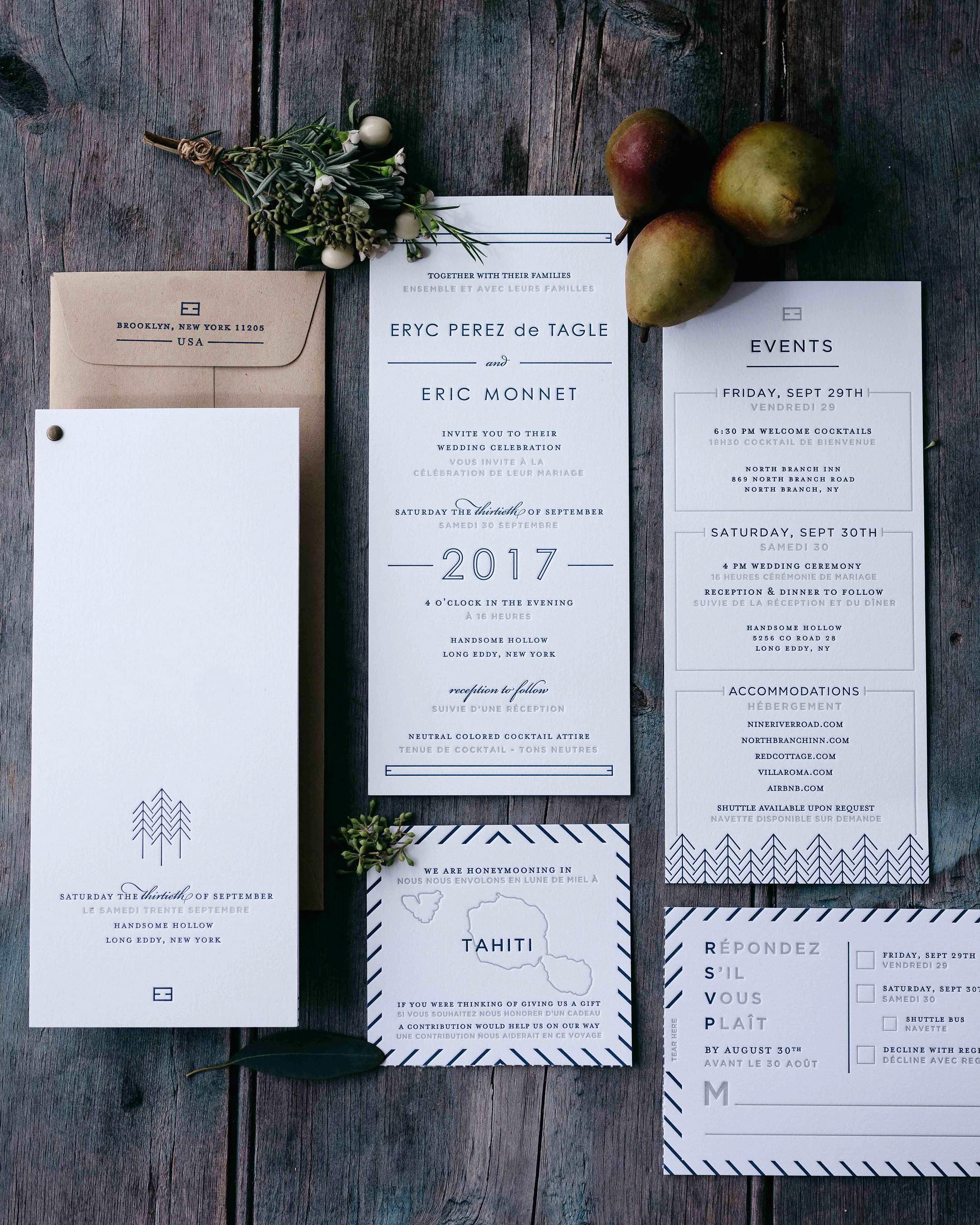 eric eryc wedding invitation