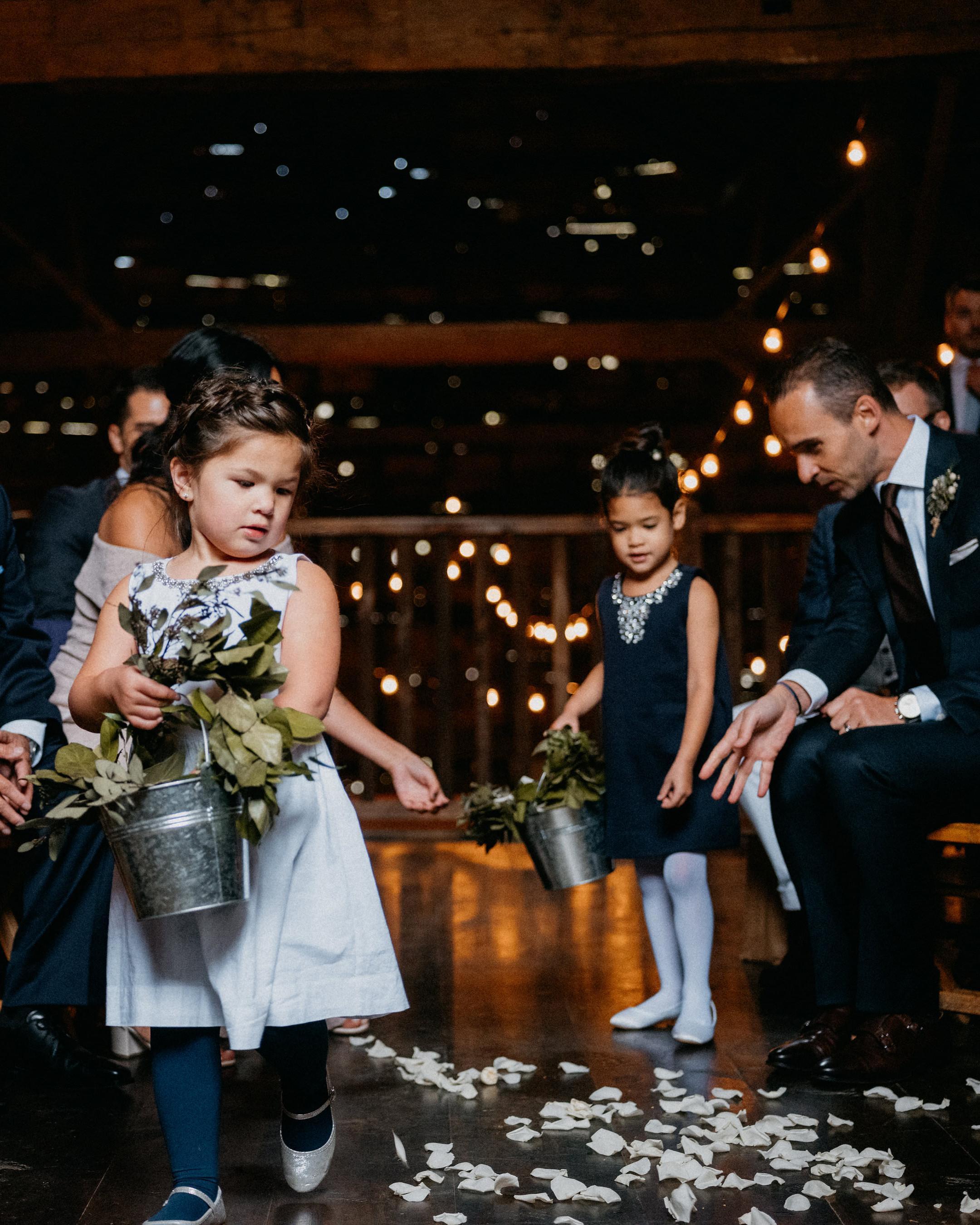 eric eryc wedding flower girls