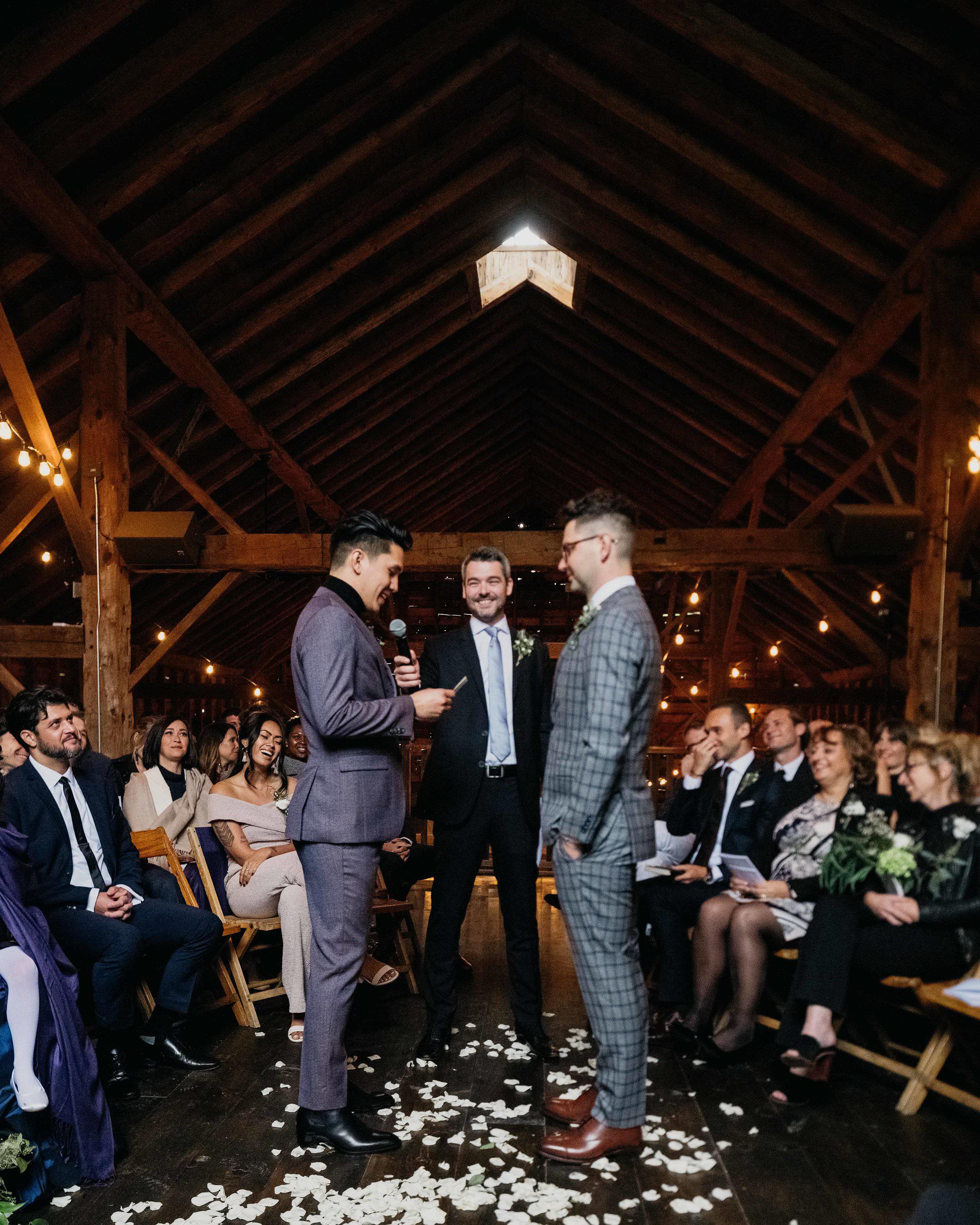 eric eryc wedding ceremony grooms