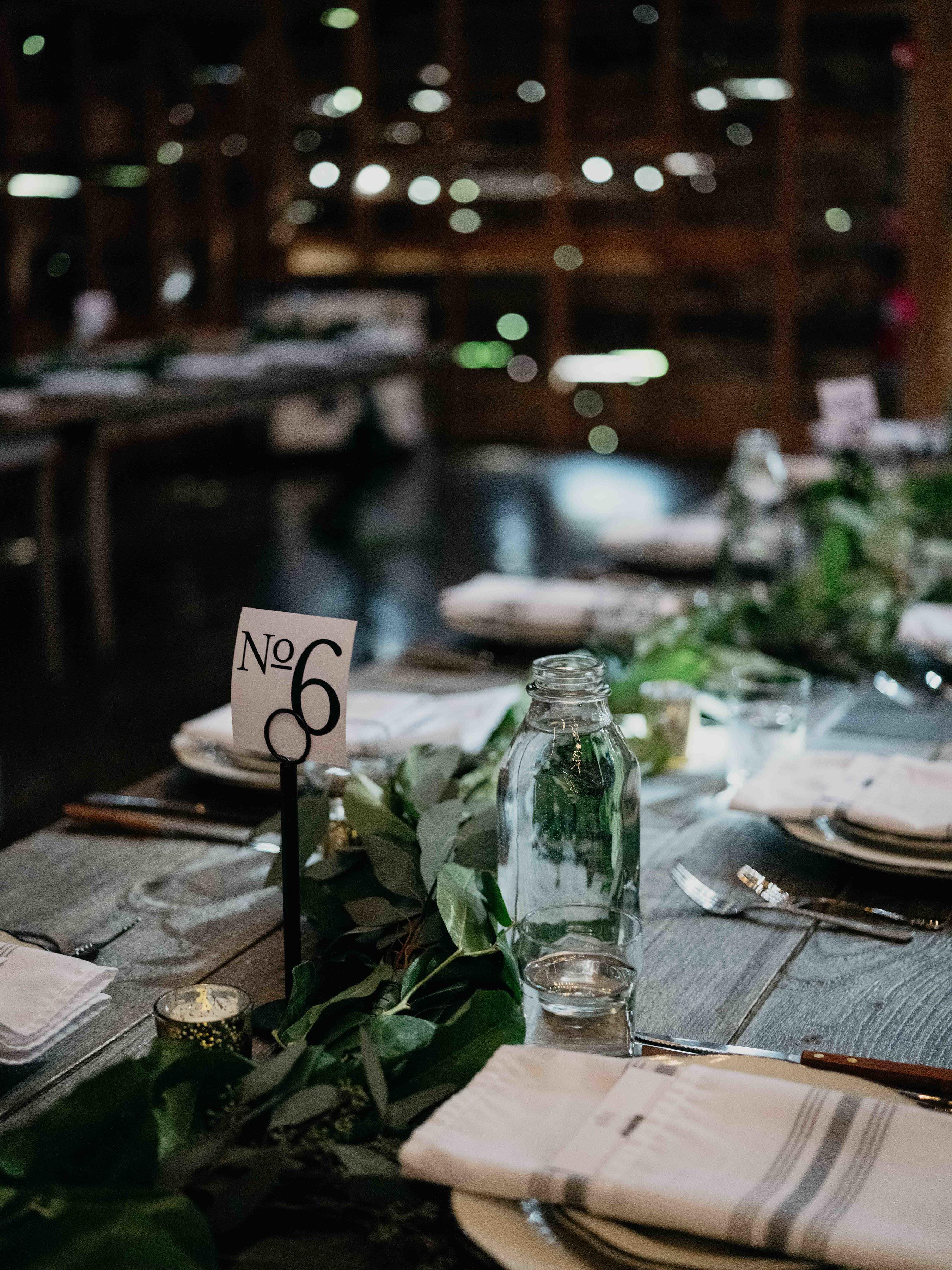 eric eryc wedding table number