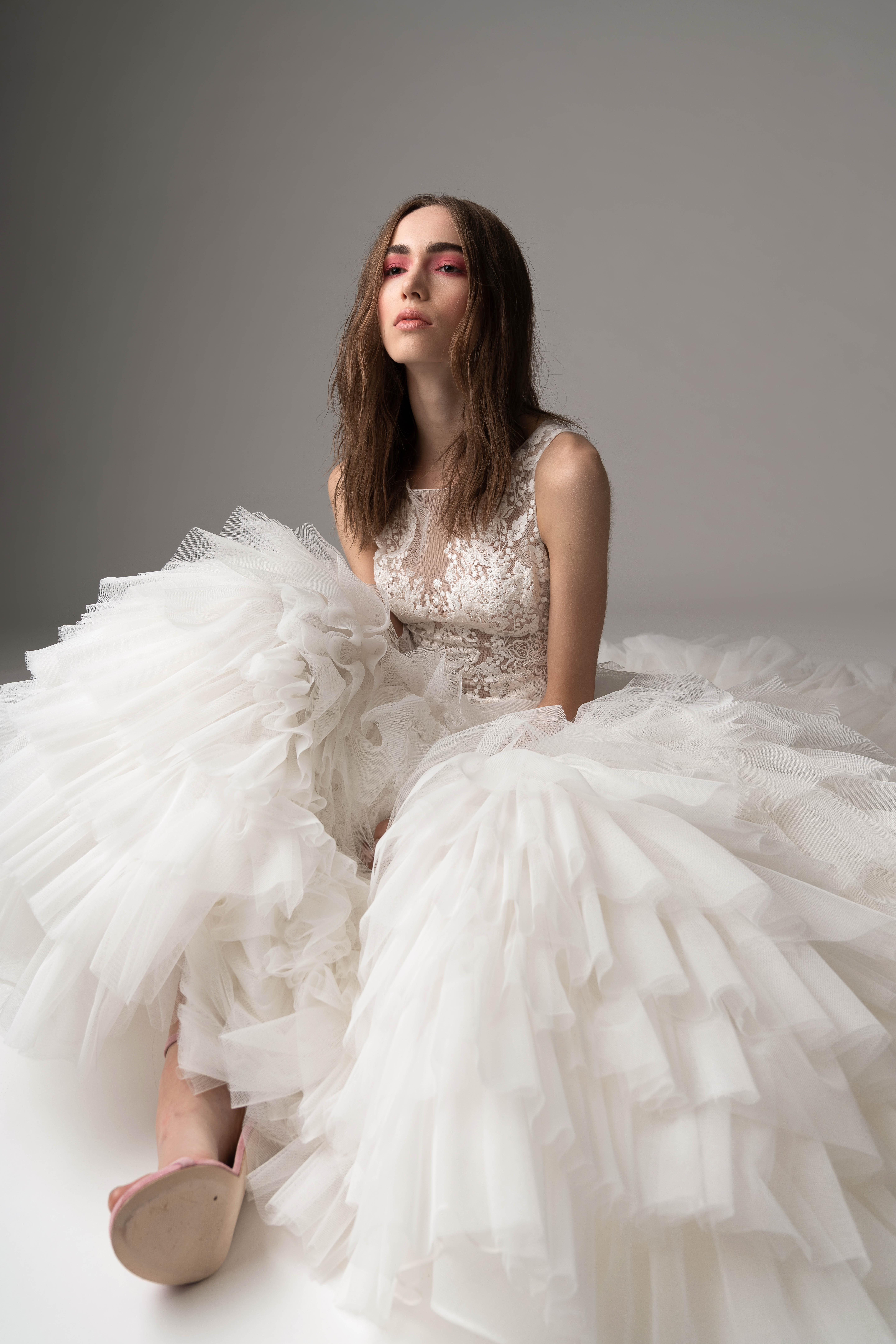rivini by rita fall 2019 high neck tulle wedding dress