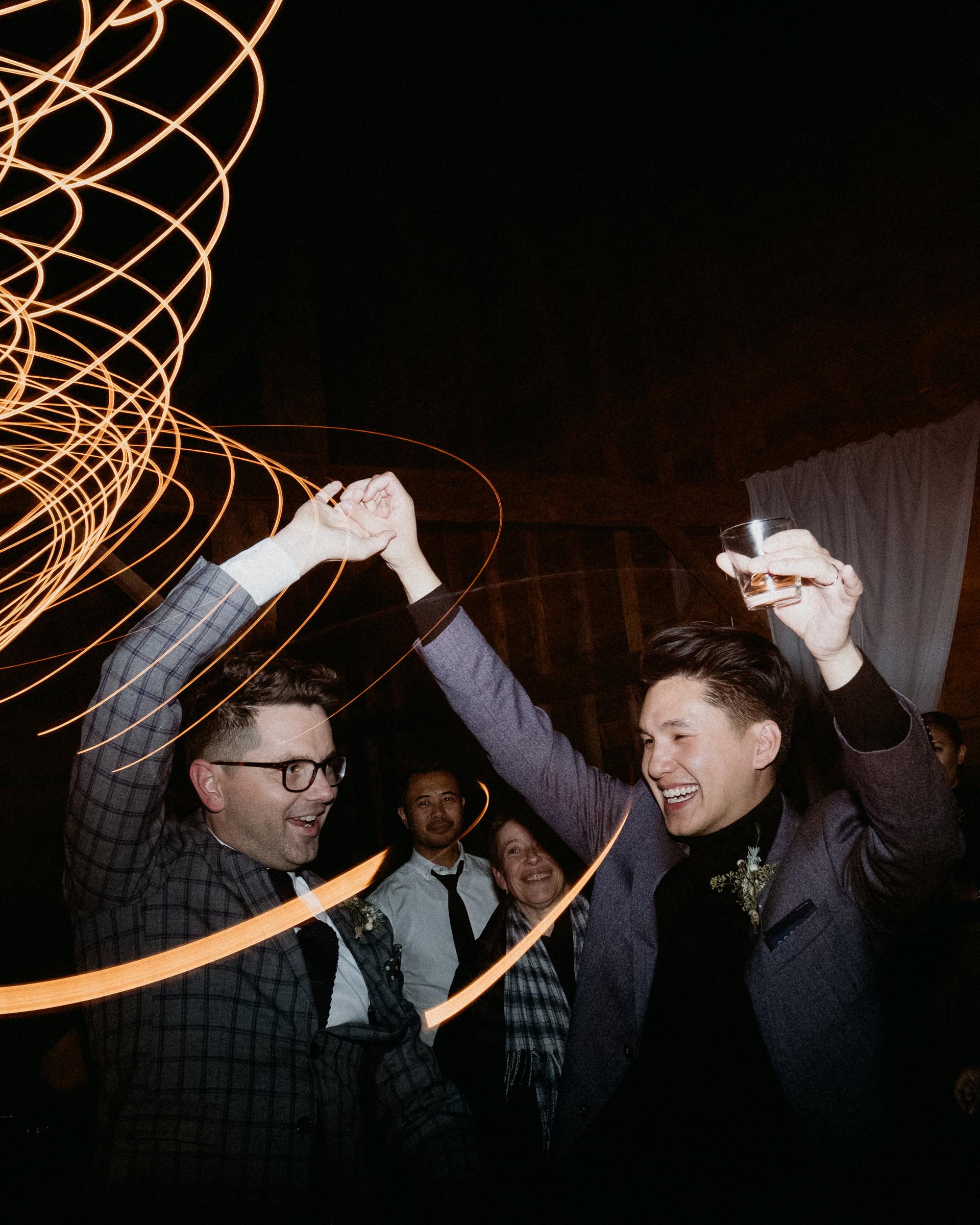 eric eryc wedding grooms dancing