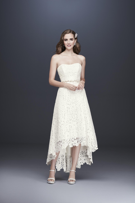 davids bridal galina fall 2019 high low strapless lace beaded belt