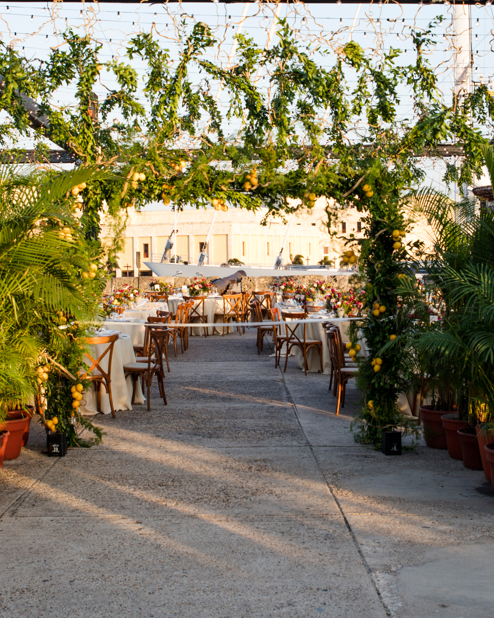 cristina andre wedding greenery