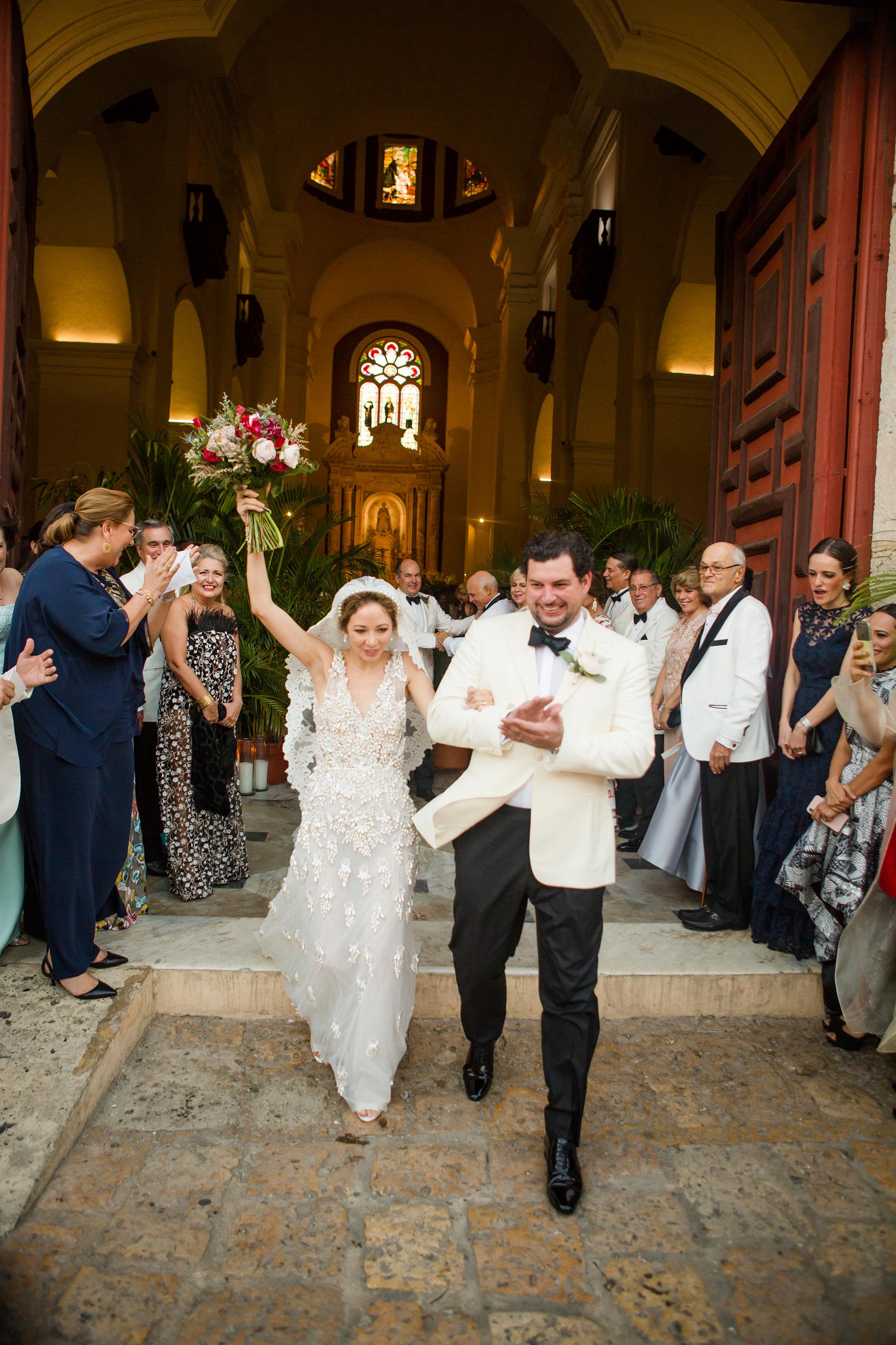 cristina andre wedding ceremony recessional