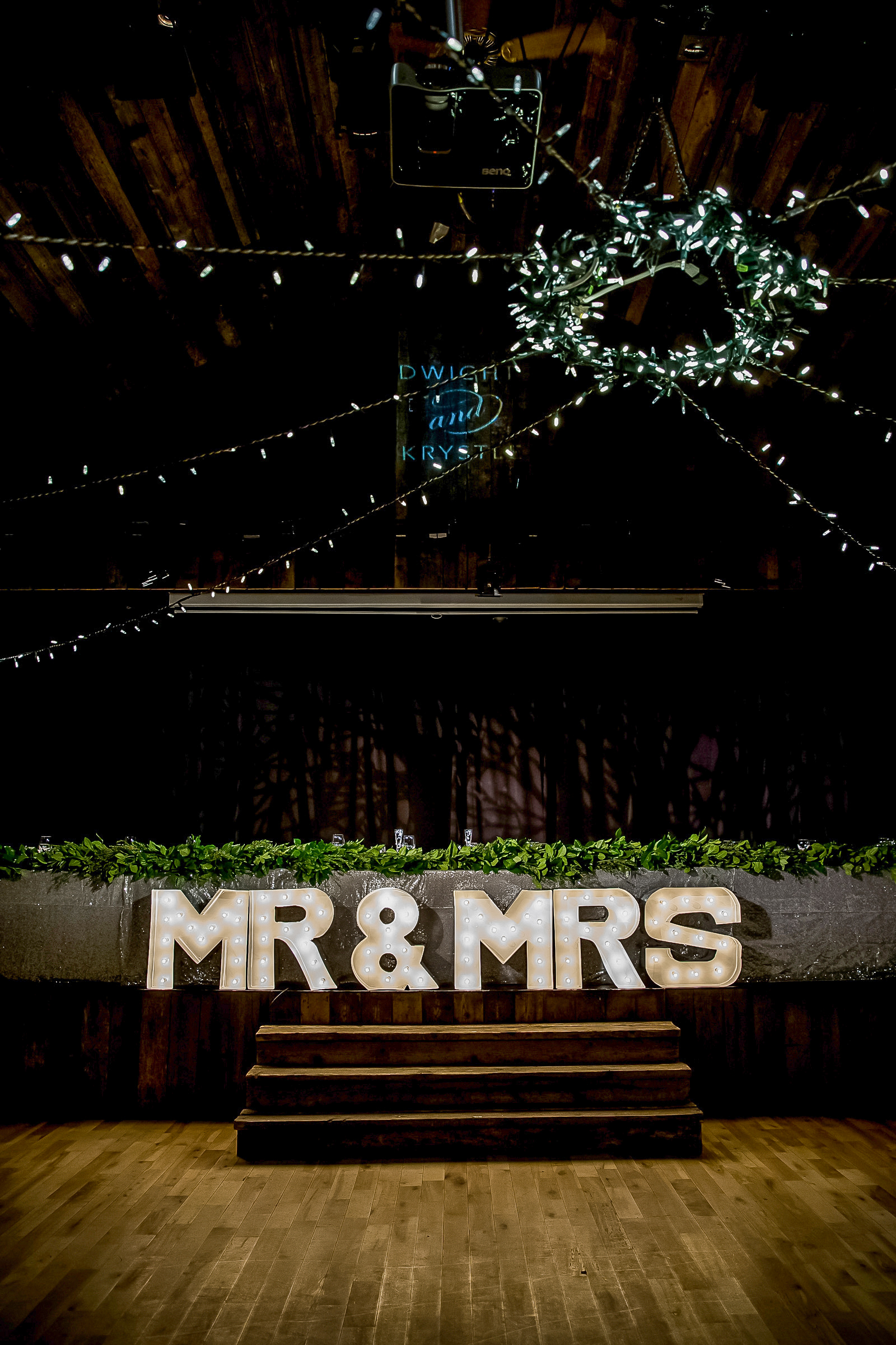 mr and mrs theatre marquee lighted signs dace floor