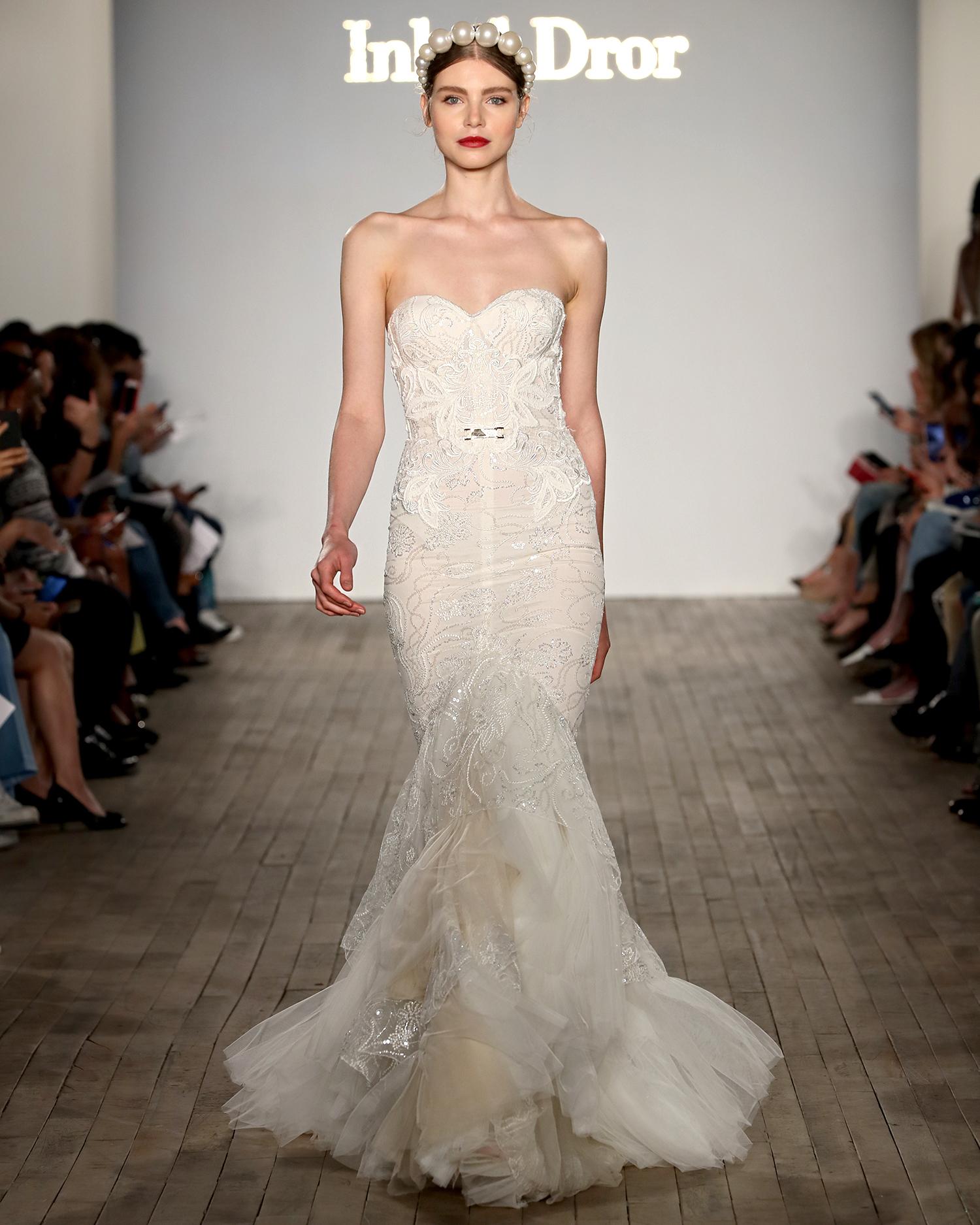 inbal dror wedding strapless sweetheart embroidered mermaid
