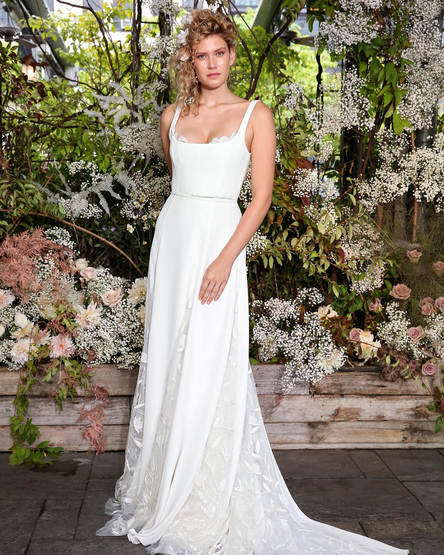 alexandra grecco wedding dress peekaboo bust details and belt