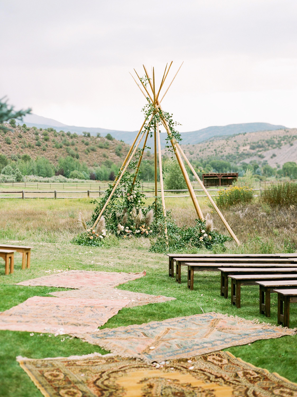 margaux patrick wedding ceremony teepee