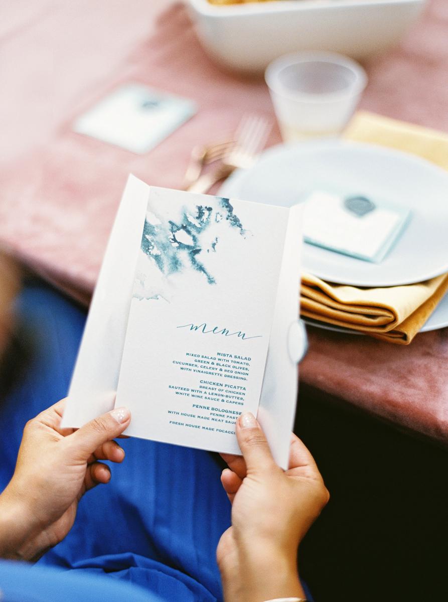 charla jesse wedding menu