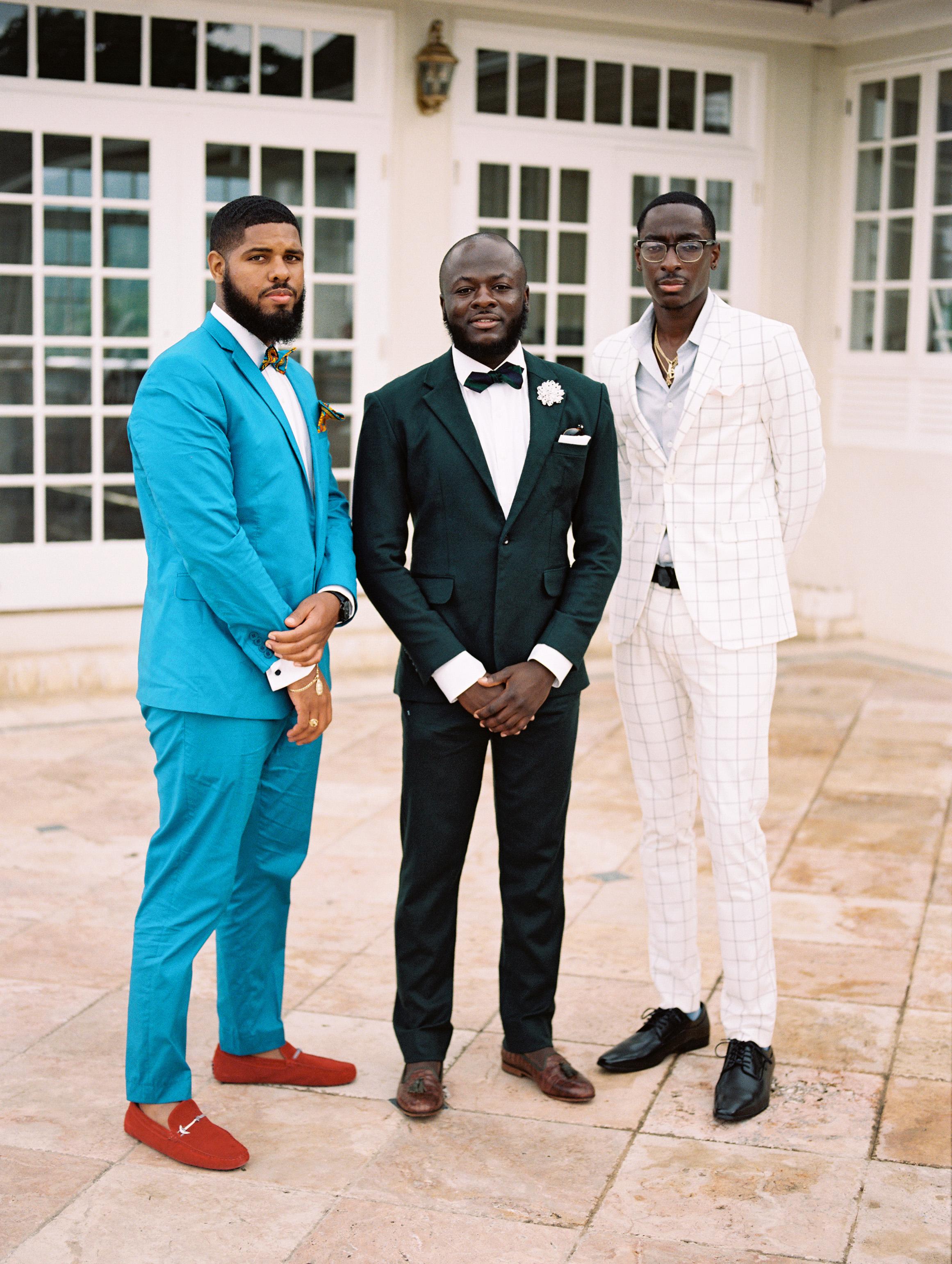 porsha terry wedding jamaica guests suits