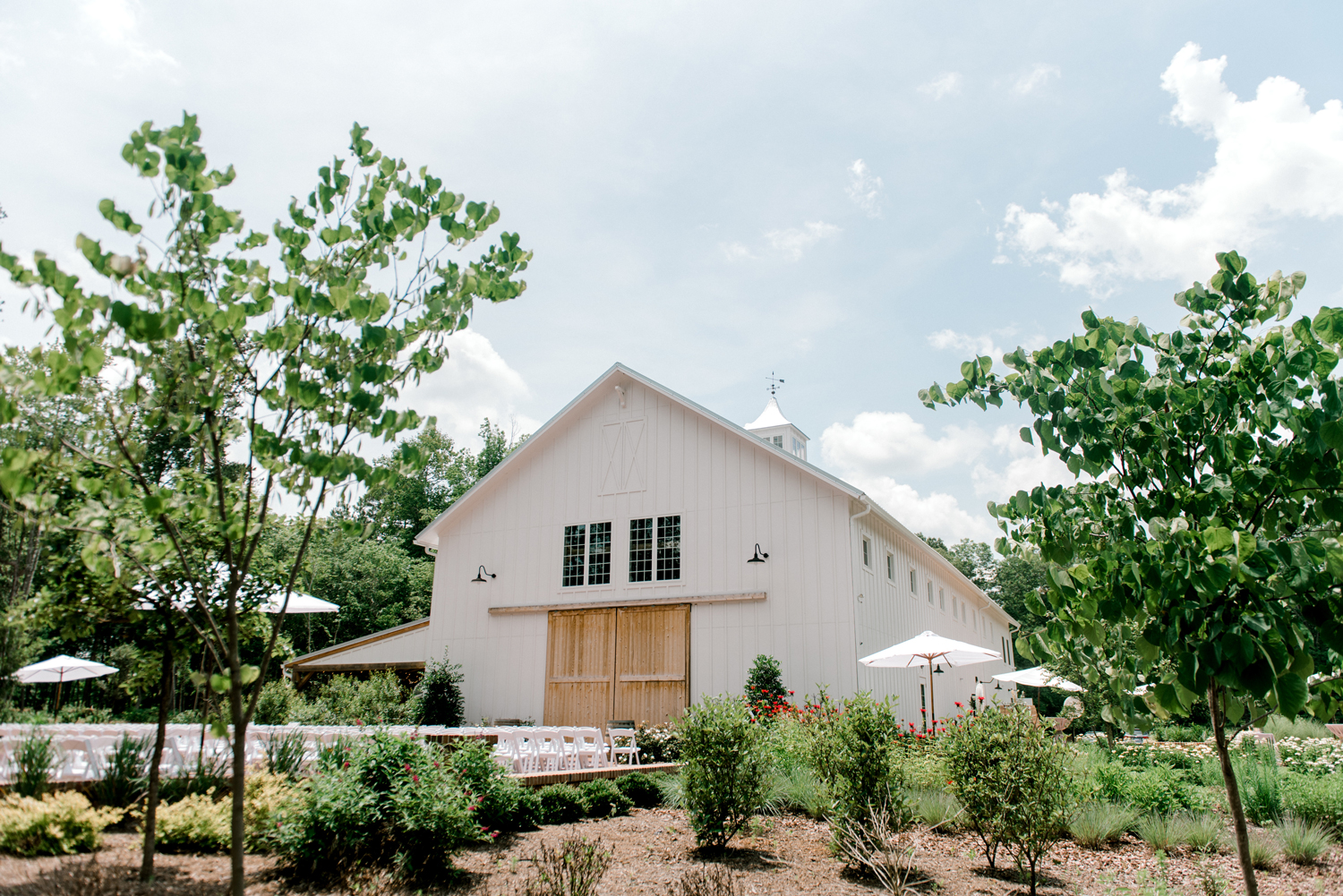 paige and kristine wedding white barn