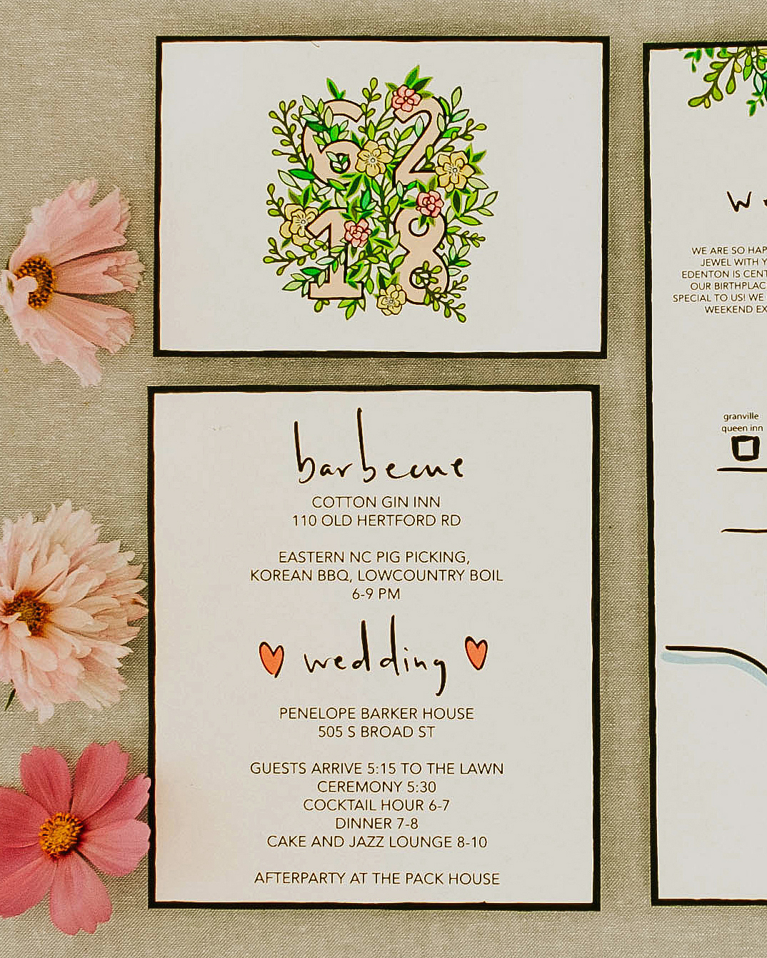 leah michael wedding stationery suite