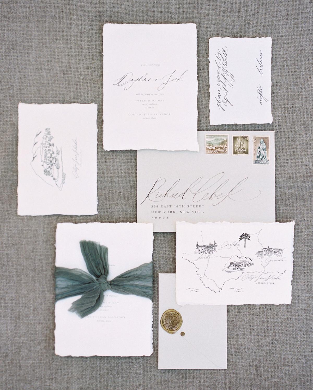 daphne jack wedding spain stationary suite