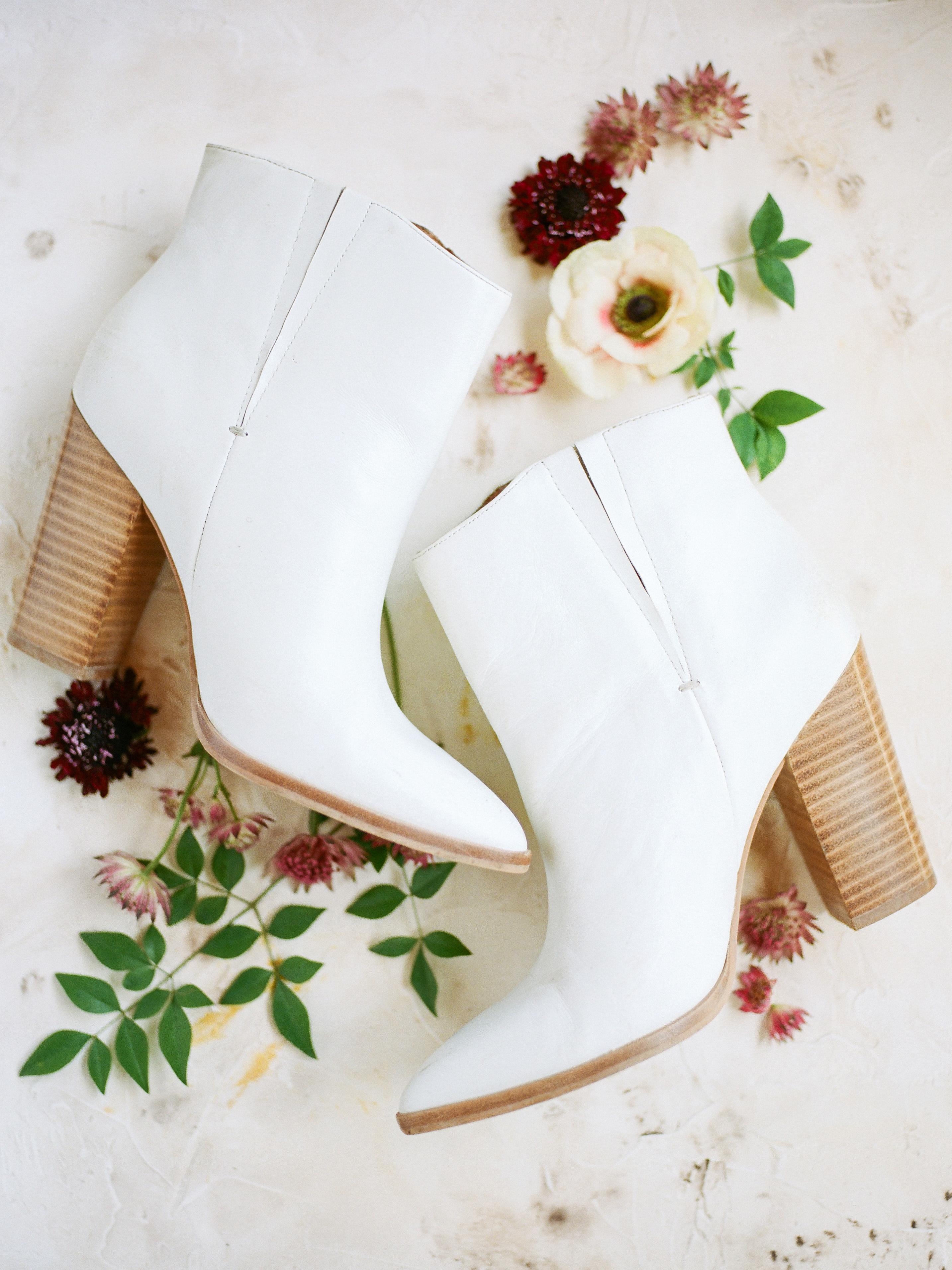 amanda chase wedding white booties