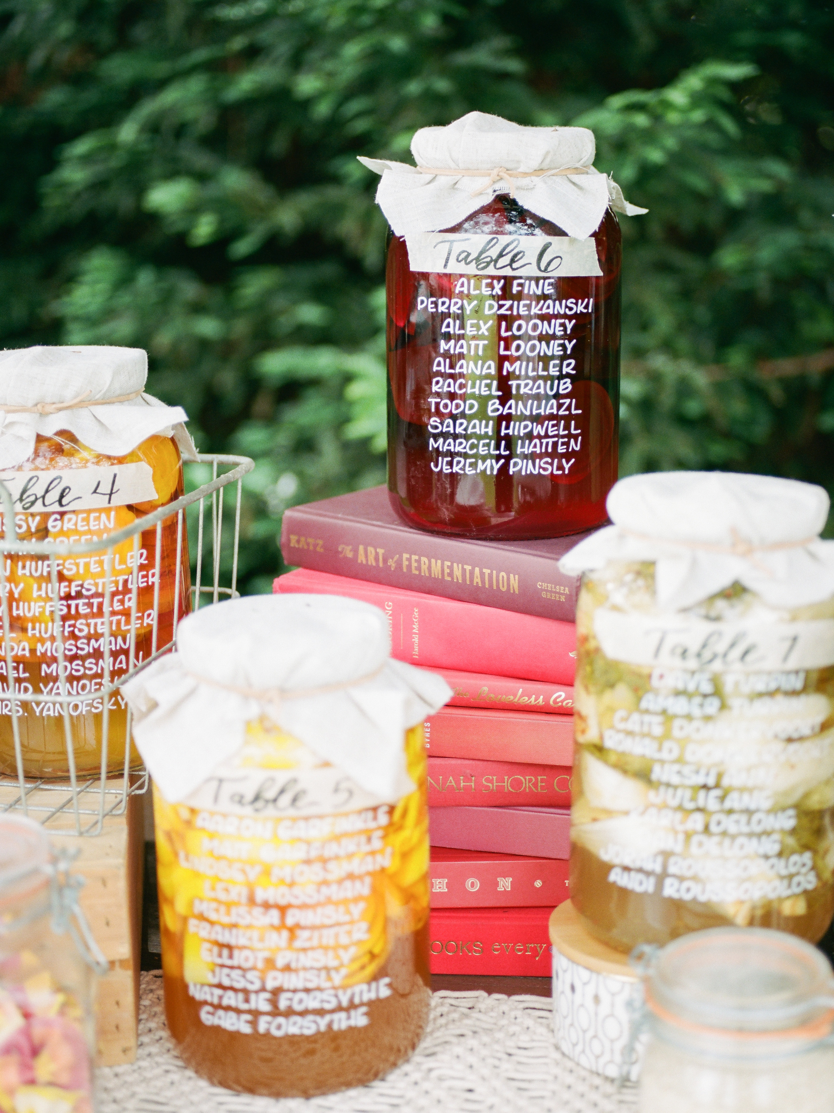 amanda chase wedding reception seating chart up jars up close
