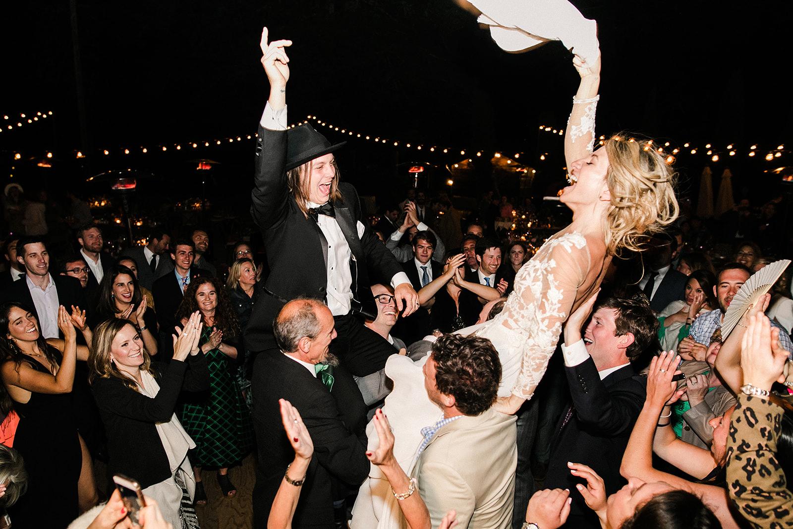 amanda chase wedding couple dancing in crowd