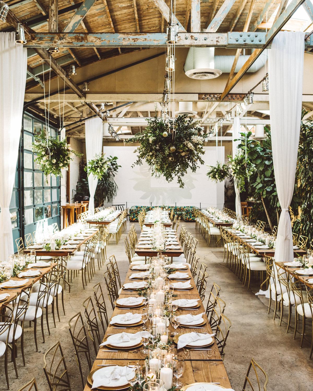kaily matt wedding los angeles reception tables