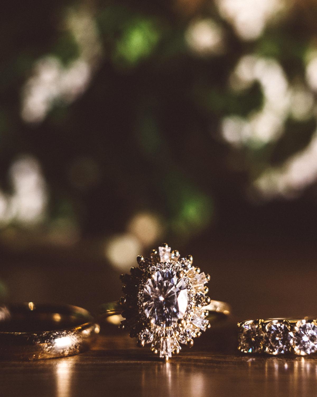 kaily matt wedding los angeles gold rings