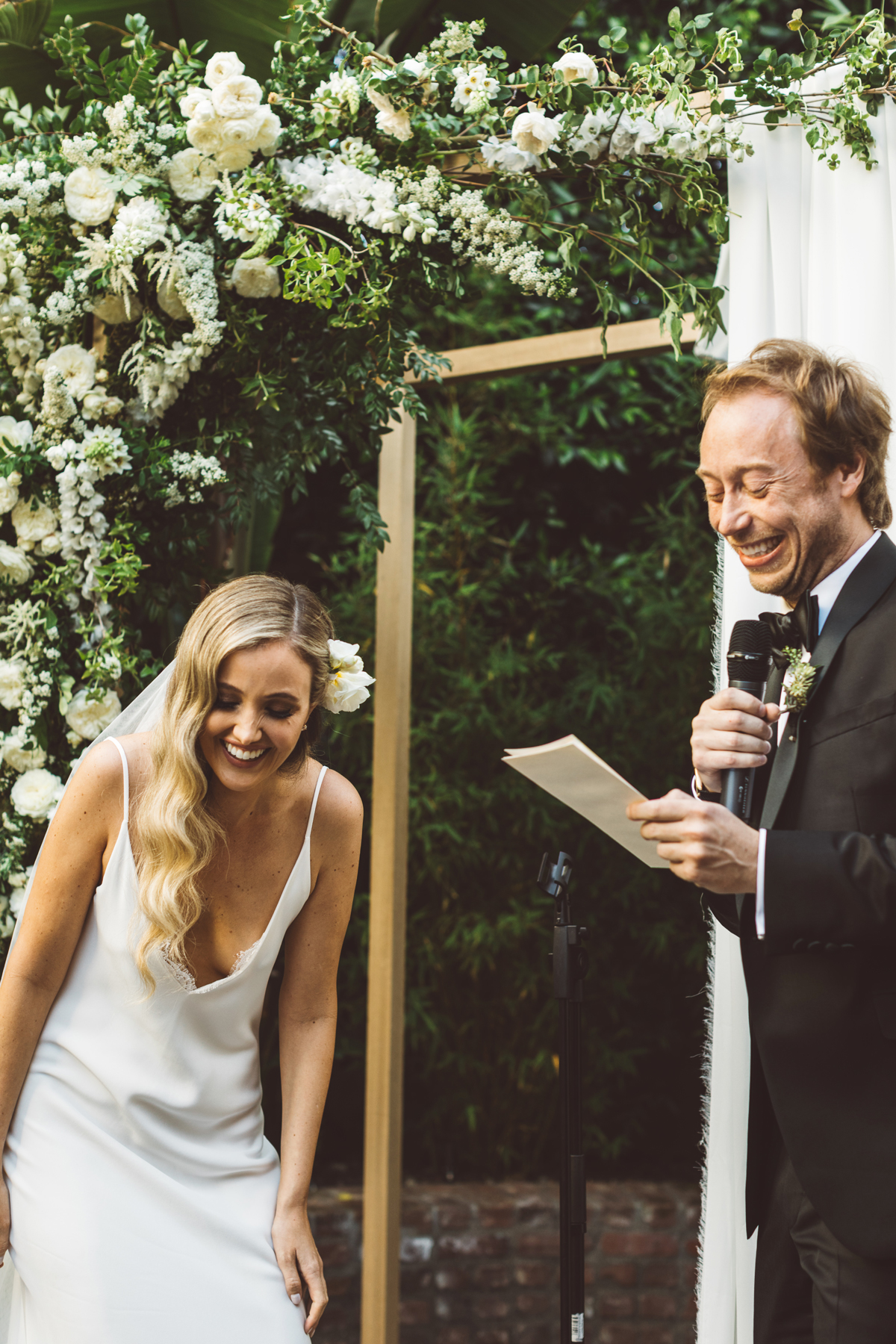 kaily matt wedding los angeles ceremony groom reading vows