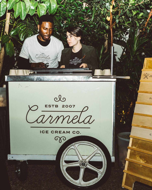 kaily matt wedding los angeles carmela ice cream cart
