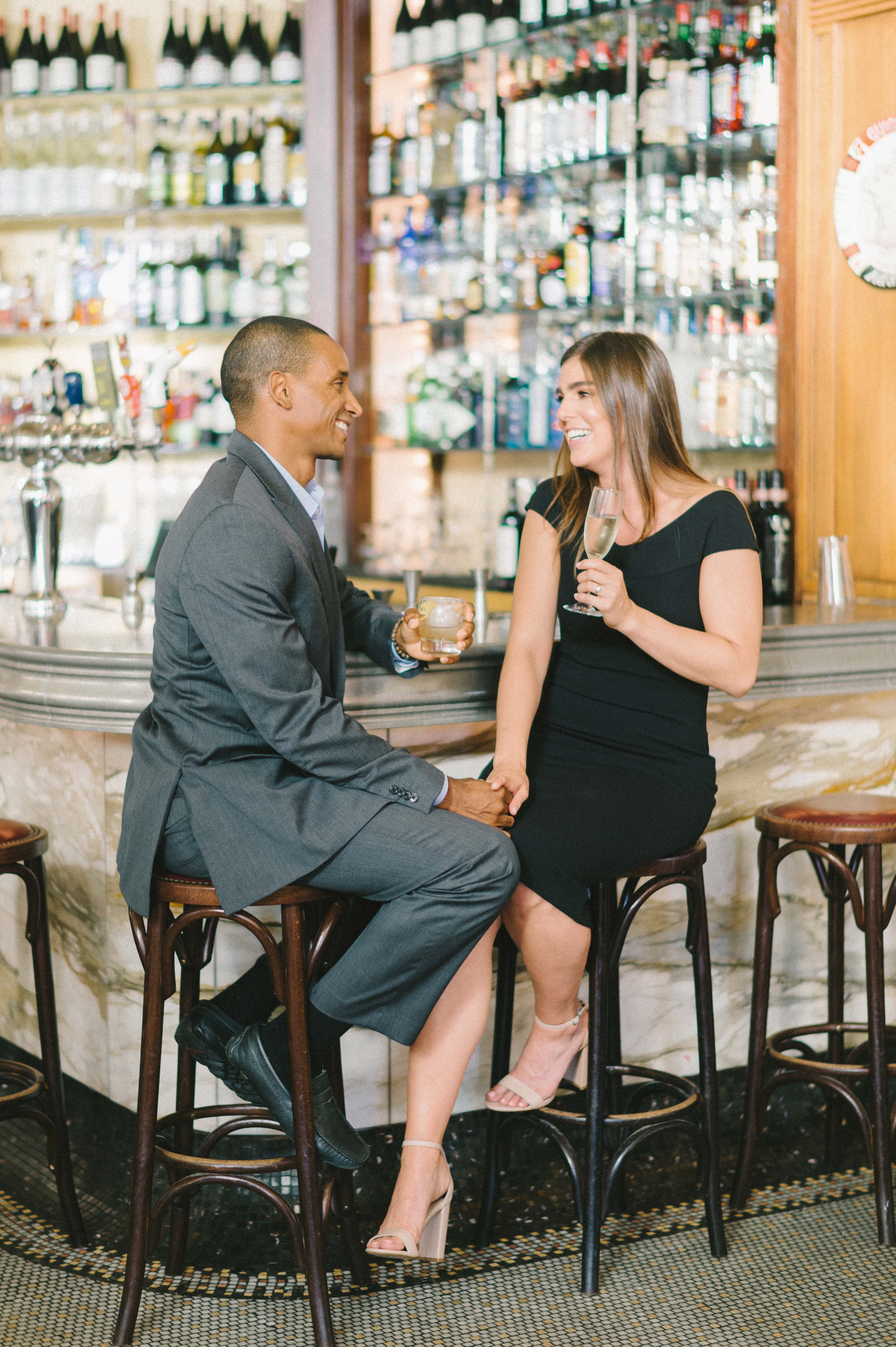 destination engagement couple historic monument bar