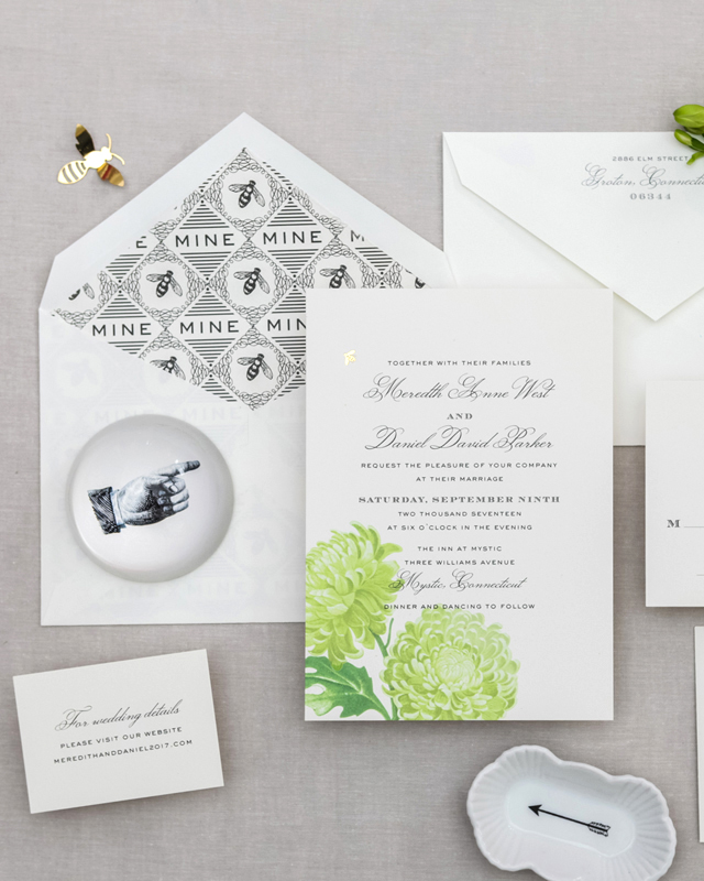 bee wedding ideas invitation suite