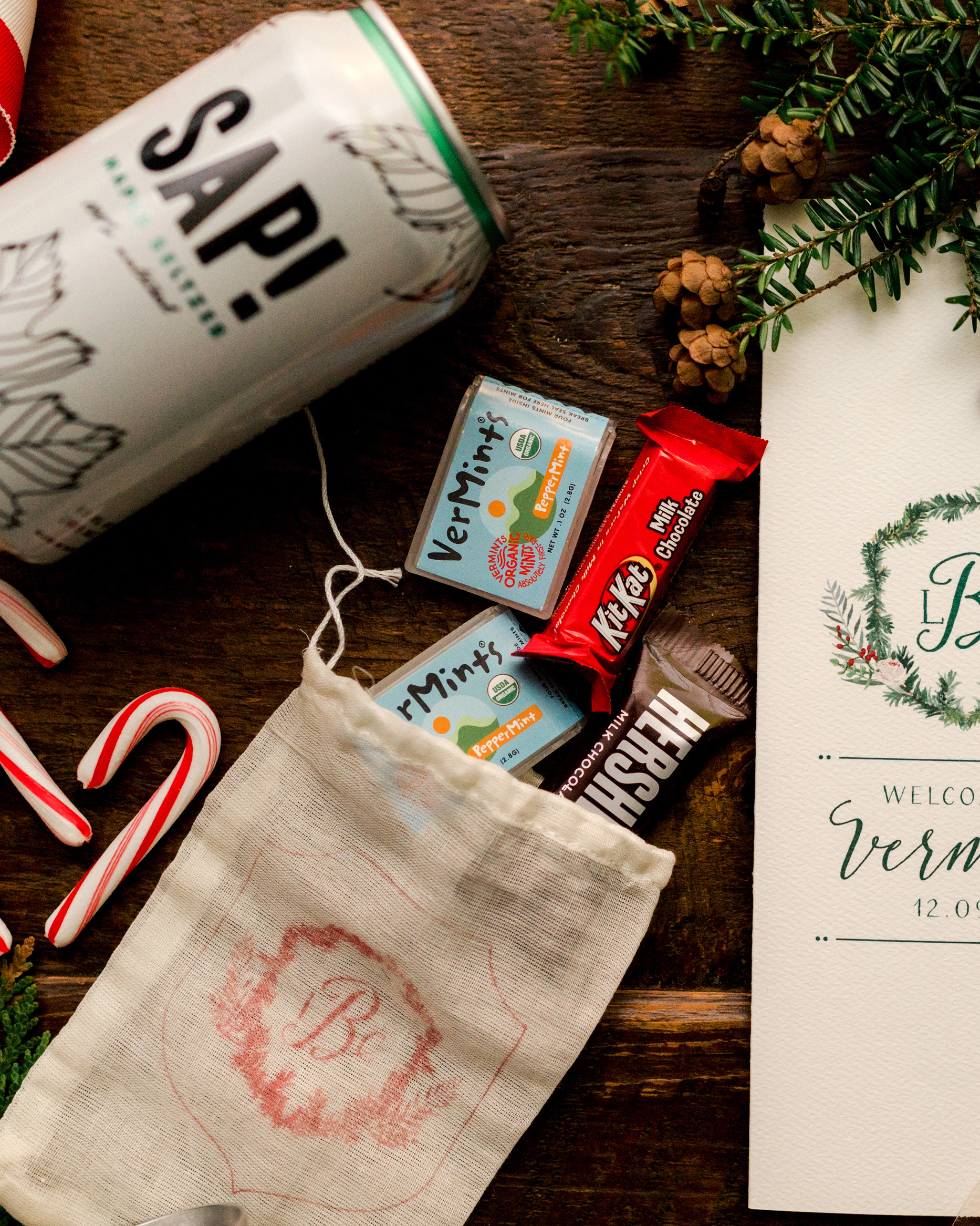 lauren christian christmas wedding welcome bag
