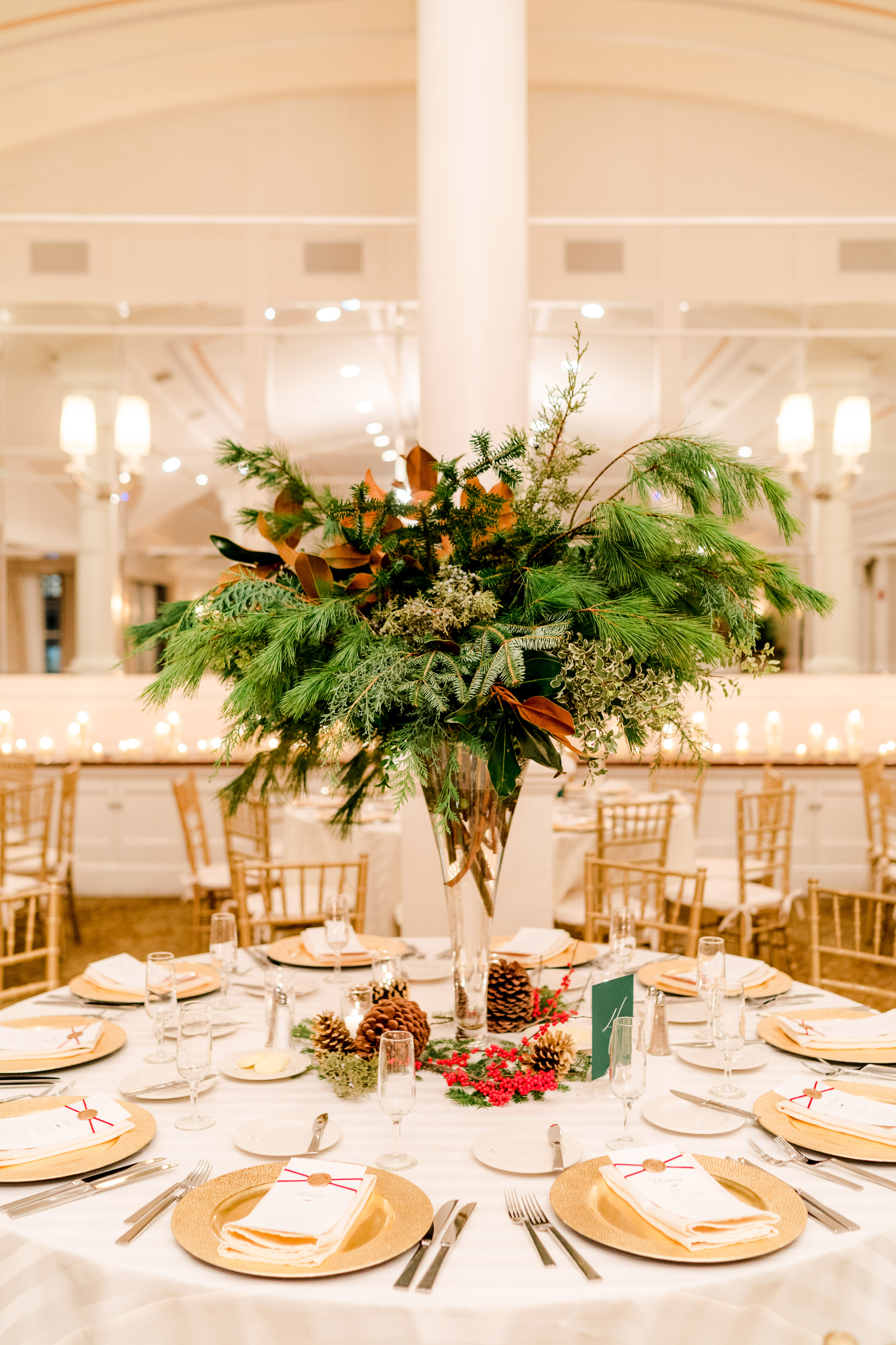 lauren christian christmas wedding high centerpiece