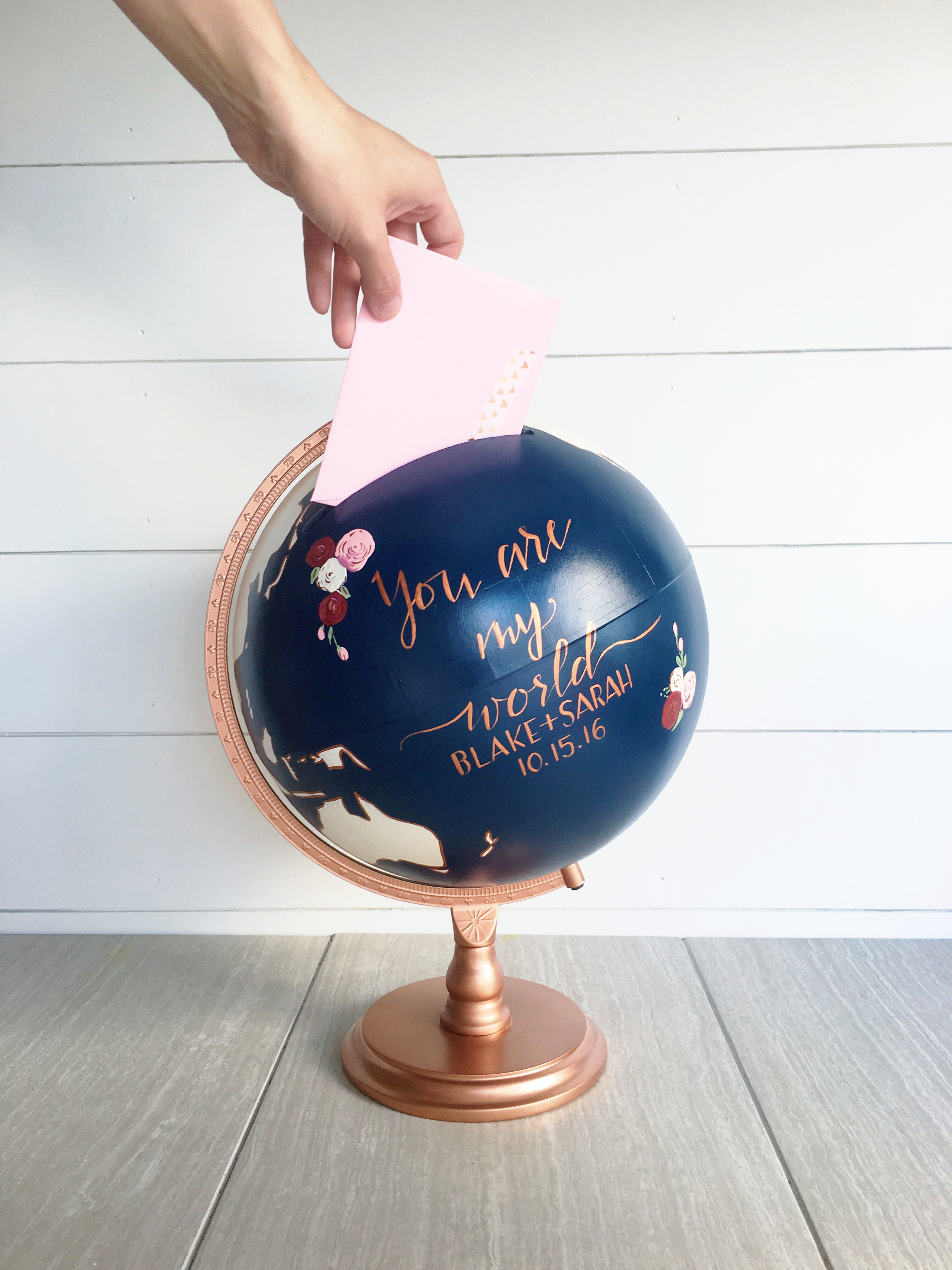 wedding card gift box globe