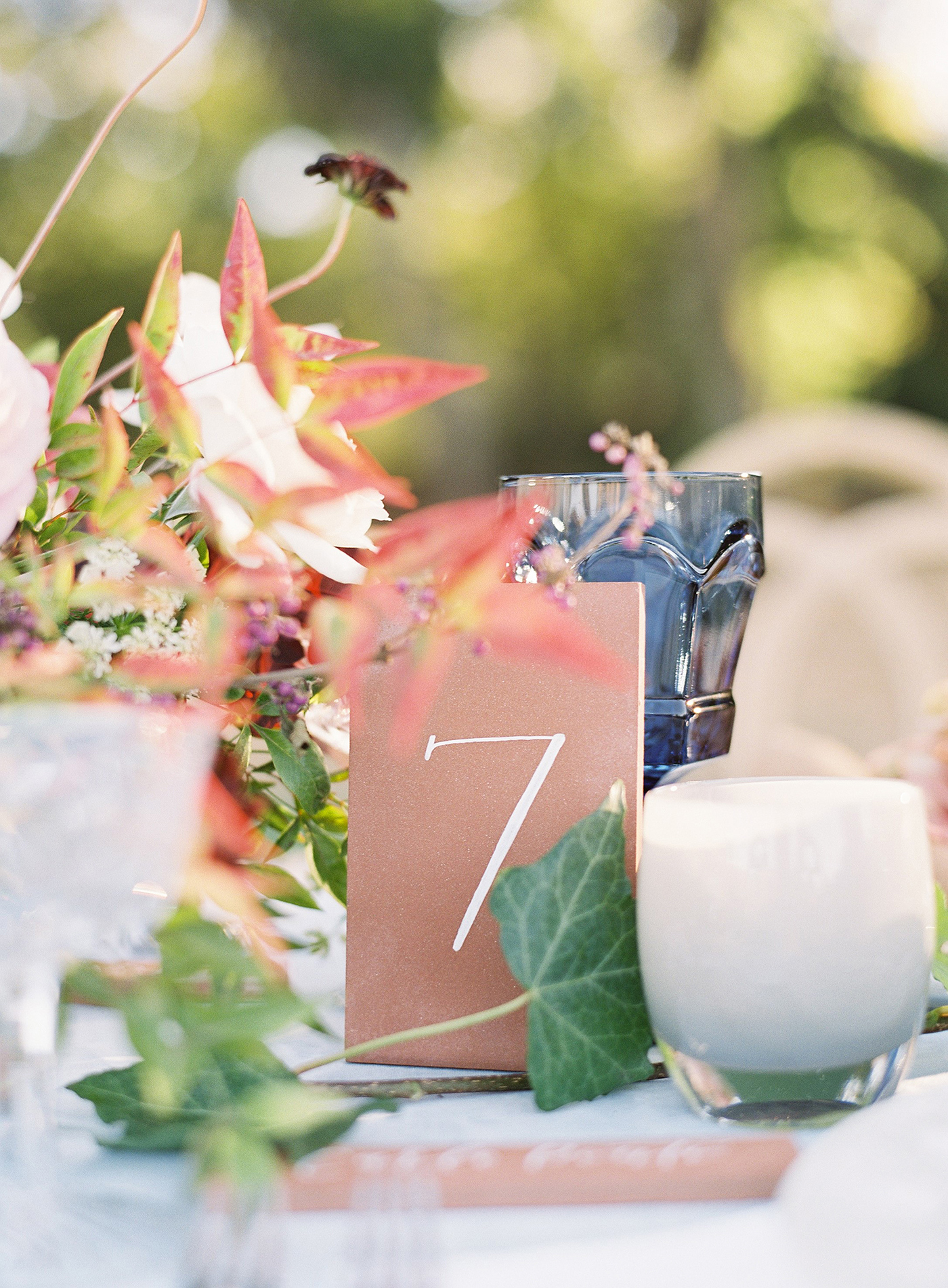 terra cotta decor simple table numbers