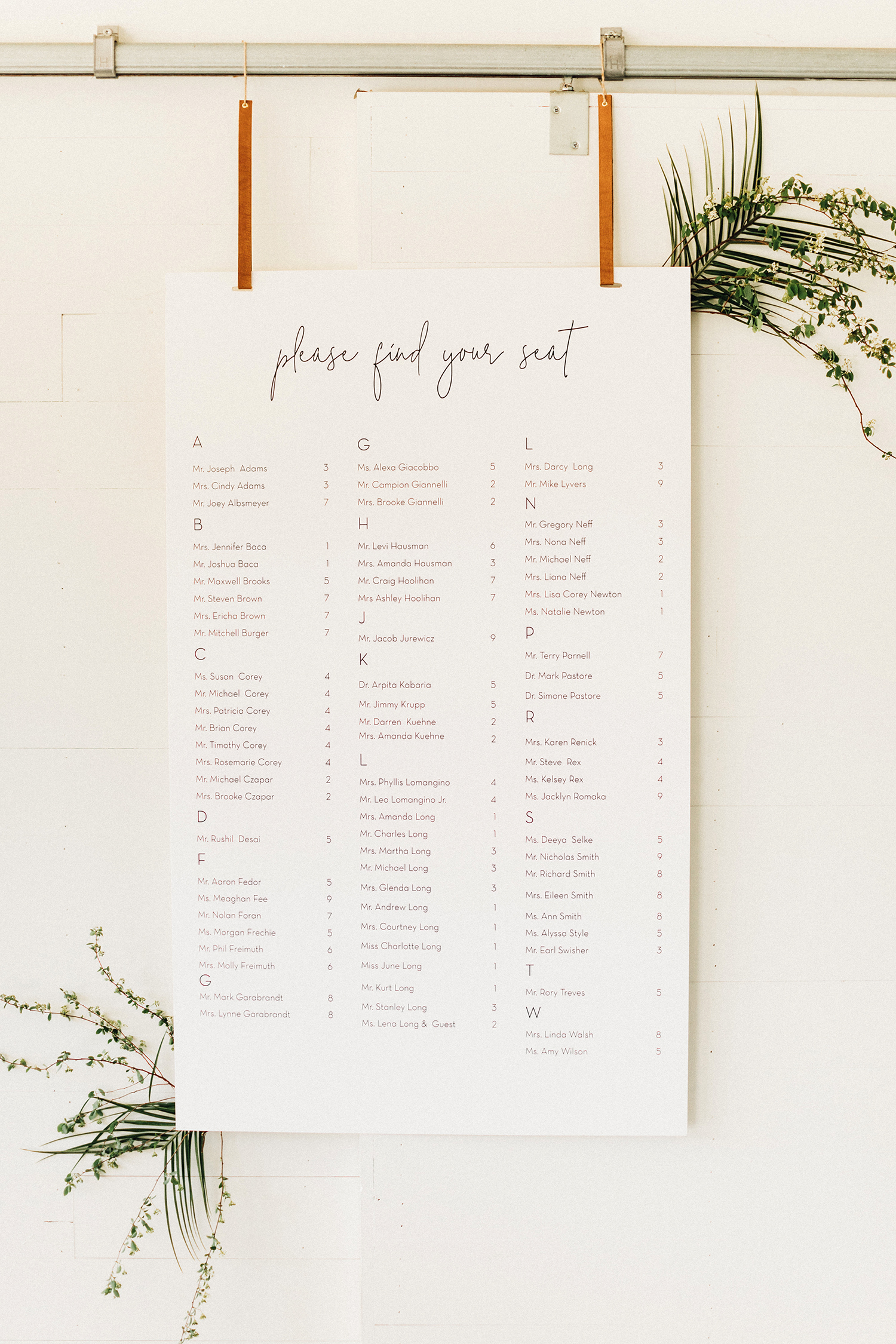 amanda chuck wedding seating chart