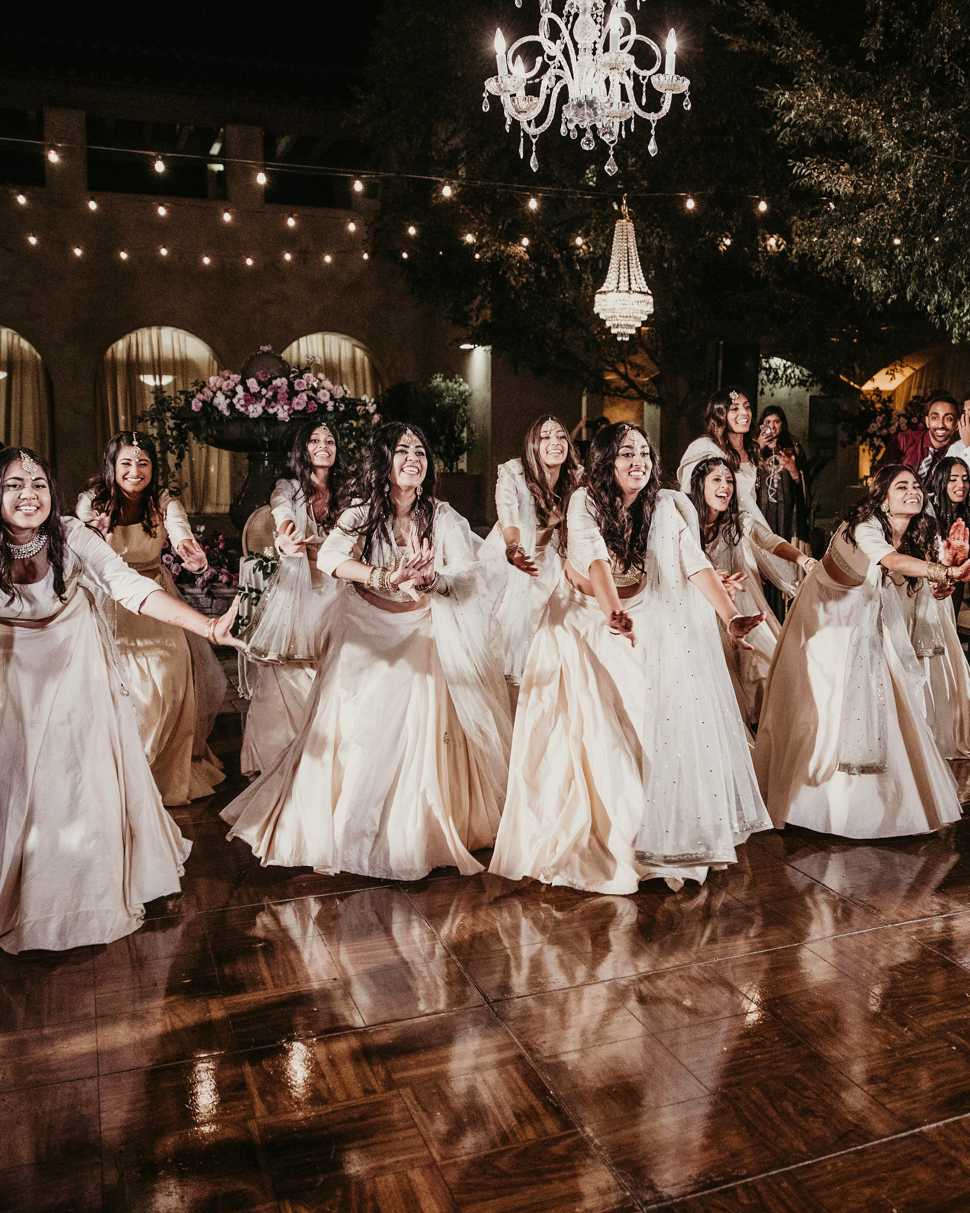 wedding reception bridesmaids choreographed dance