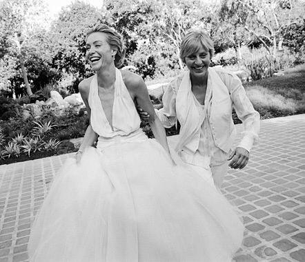Ellen DeGeneres and Portia de Rossi wedding throwback