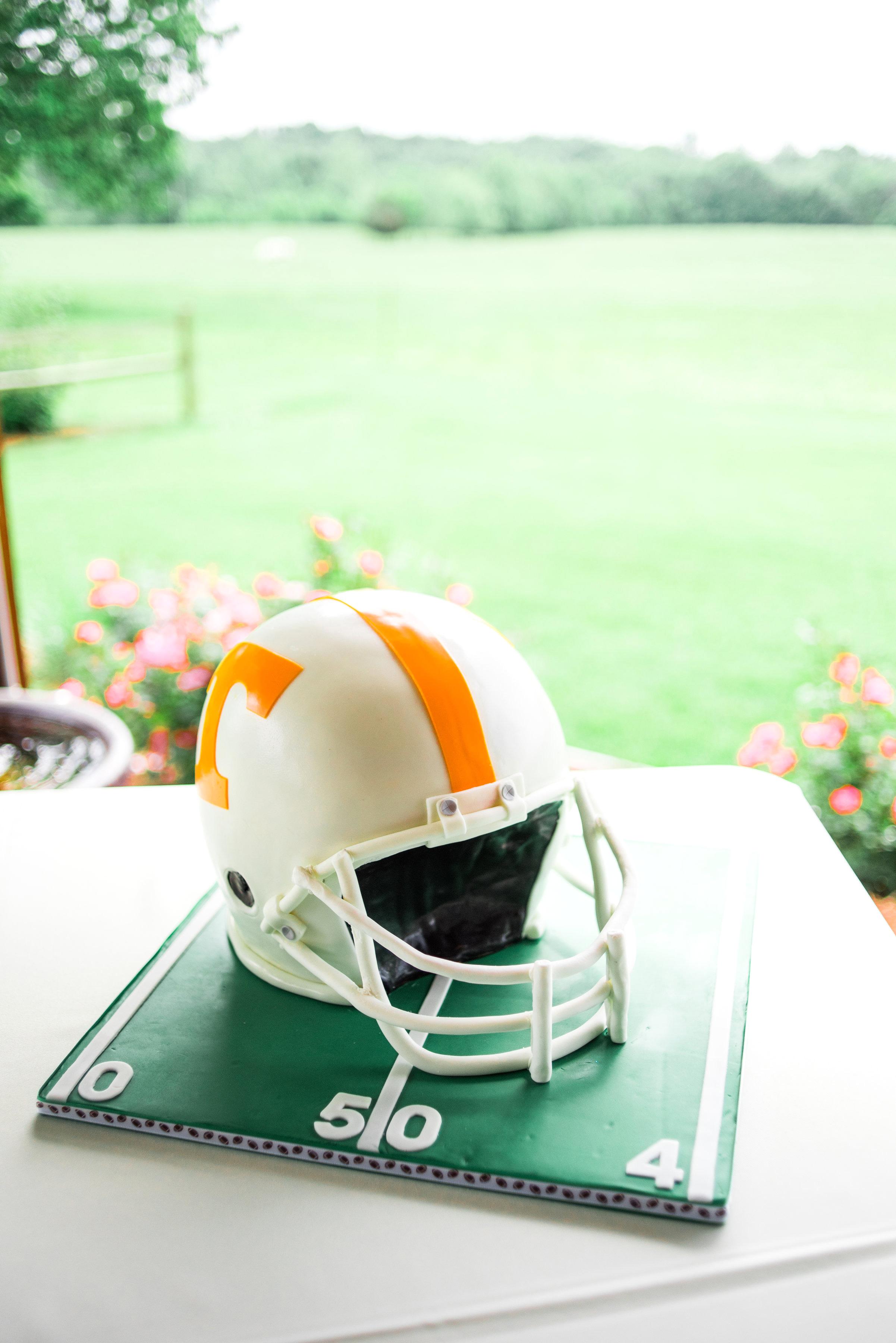 football helmet groom's cake