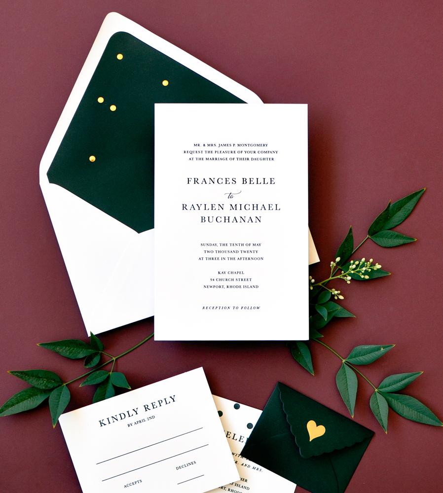 wedding stationery trends moody floral black color envelope