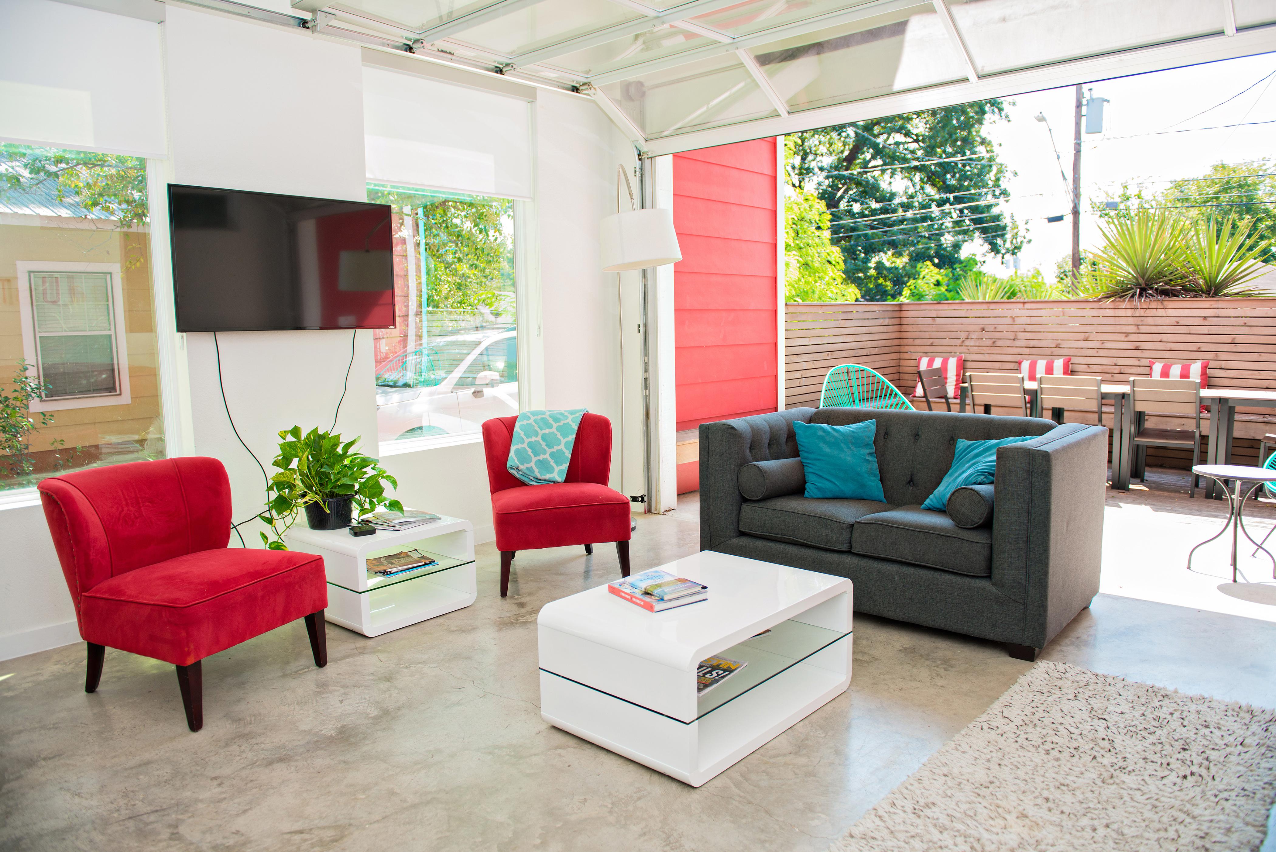 modern eclectic airbnb austin texas