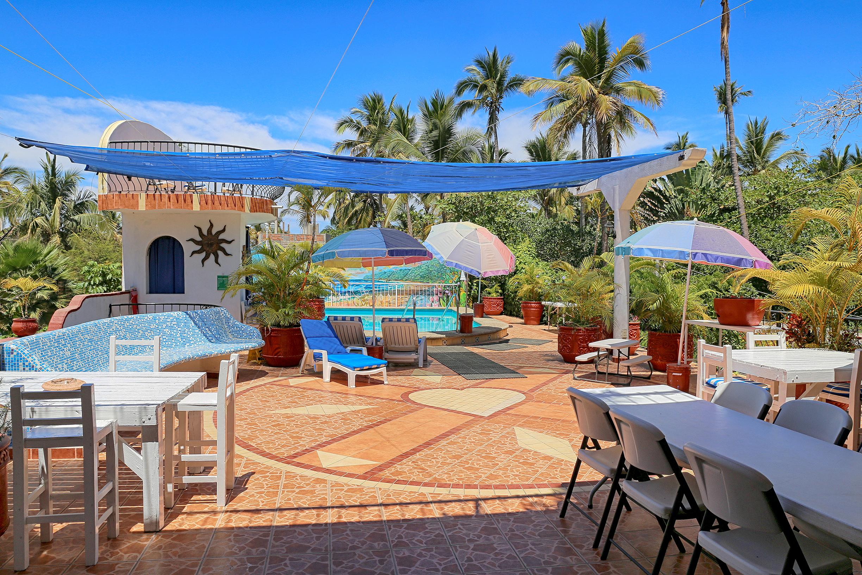 private outdoor patio airbnb sayulita mexico