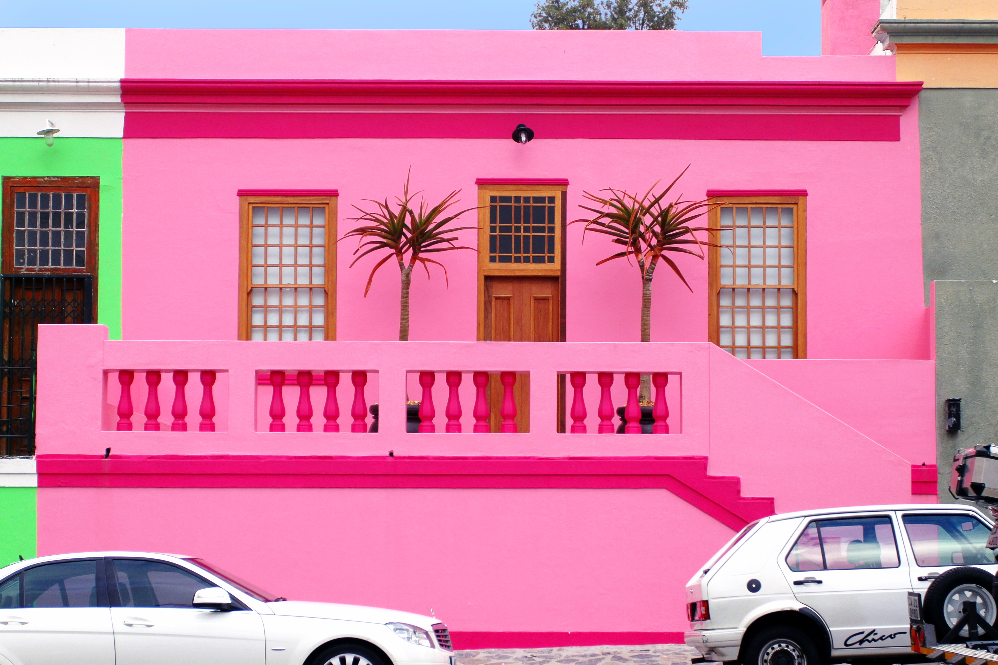 south africa bright pink airbnb