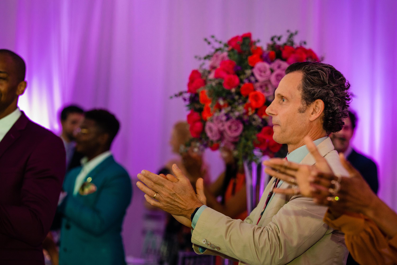 Tony Goldwyn Clapping at Cornelius Smith Jr. Wedding