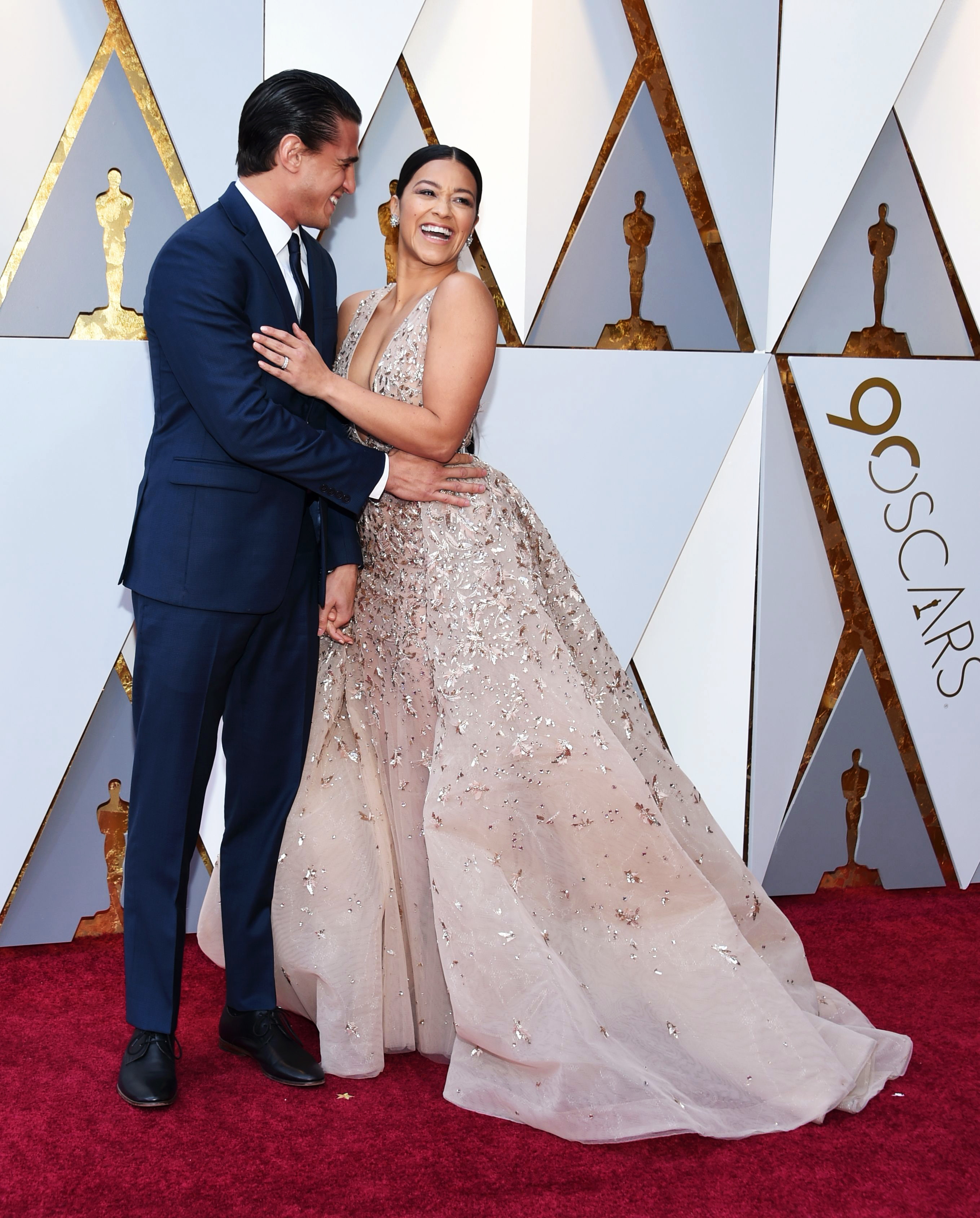 Gina Rodriguez and Joe Locicero 2018 Oscars