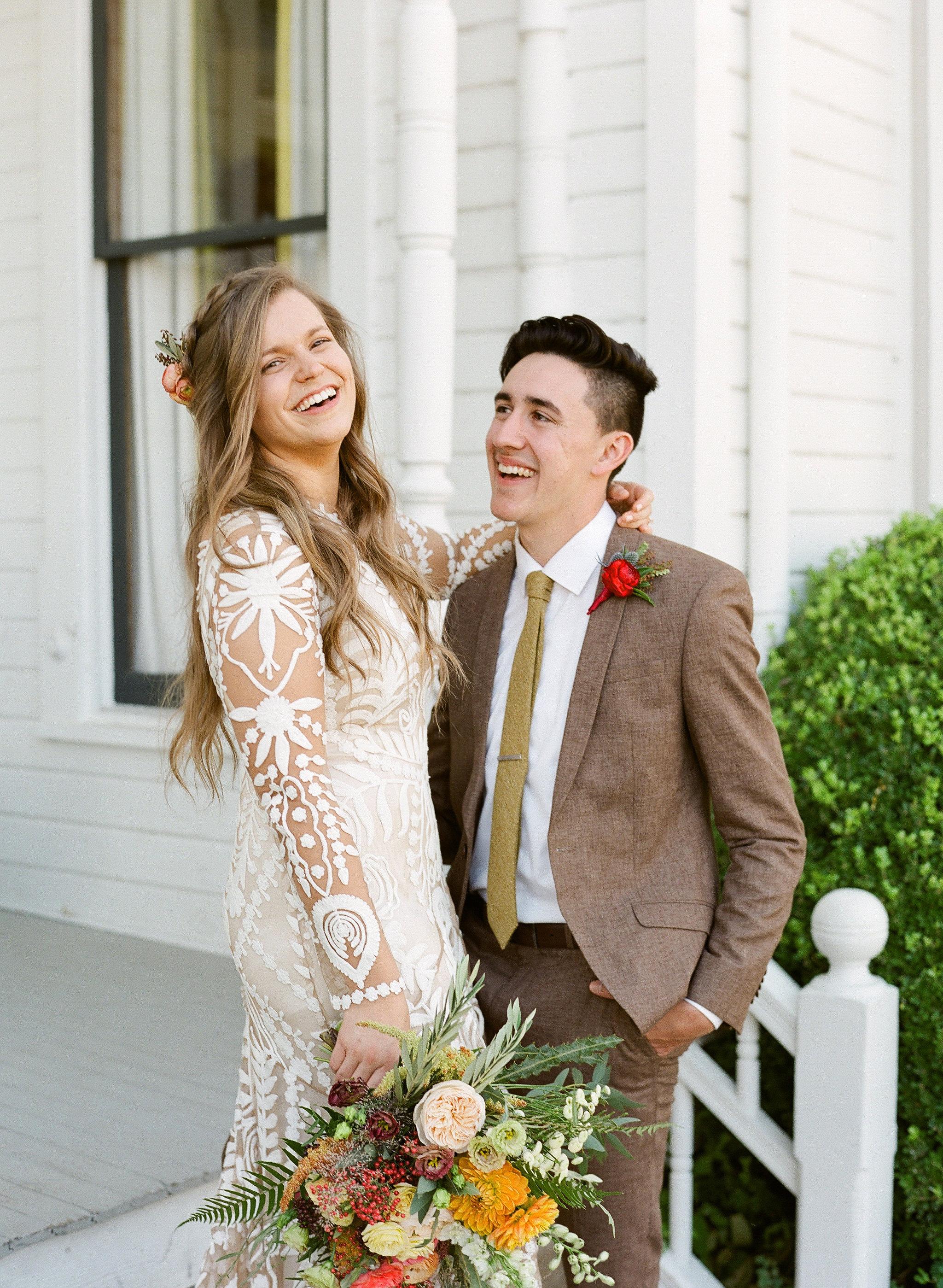 hayleigh corey wedding couple bride and groom