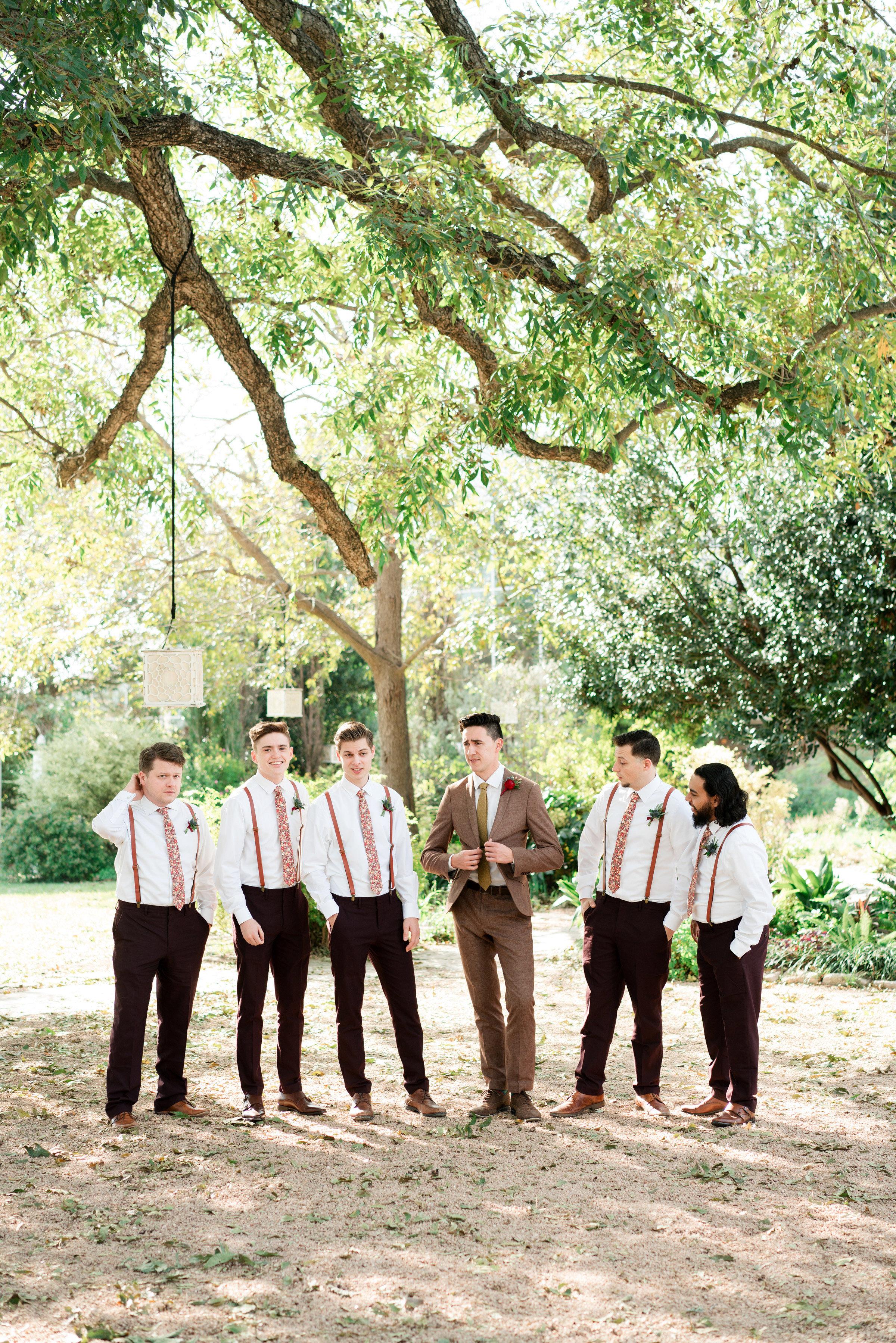 hayleigh corey wedding groomsmen and groom
