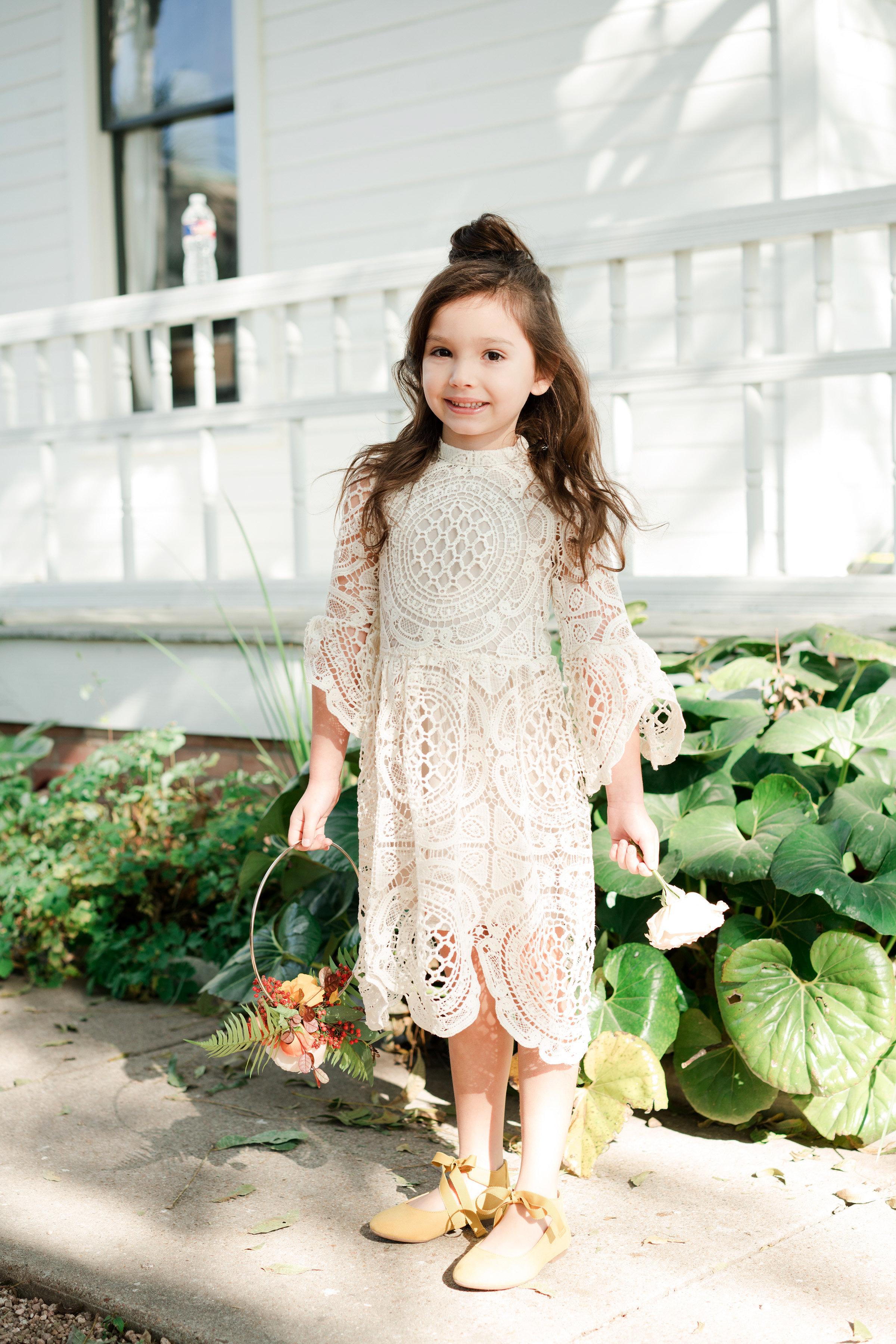 hayleigh corey wedding flower girl