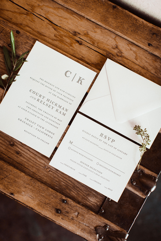 Court & Kelsey's wedding invitation