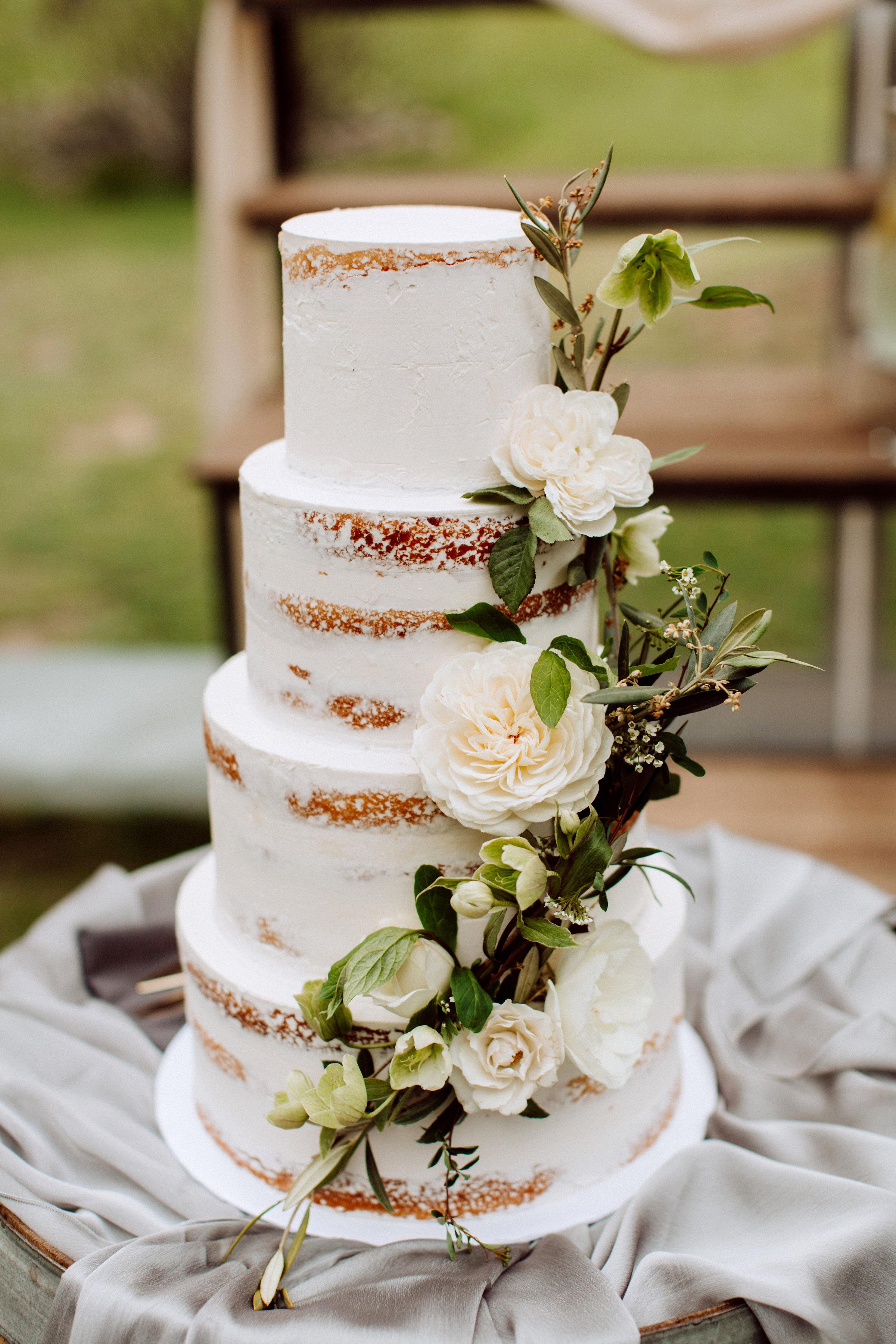 Court & Kelsey wedding cake
