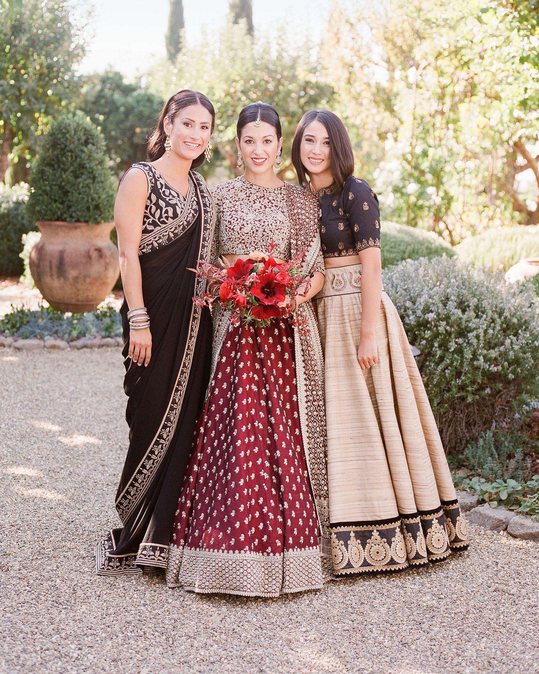 jenna alok wedding wine country california bride sisters