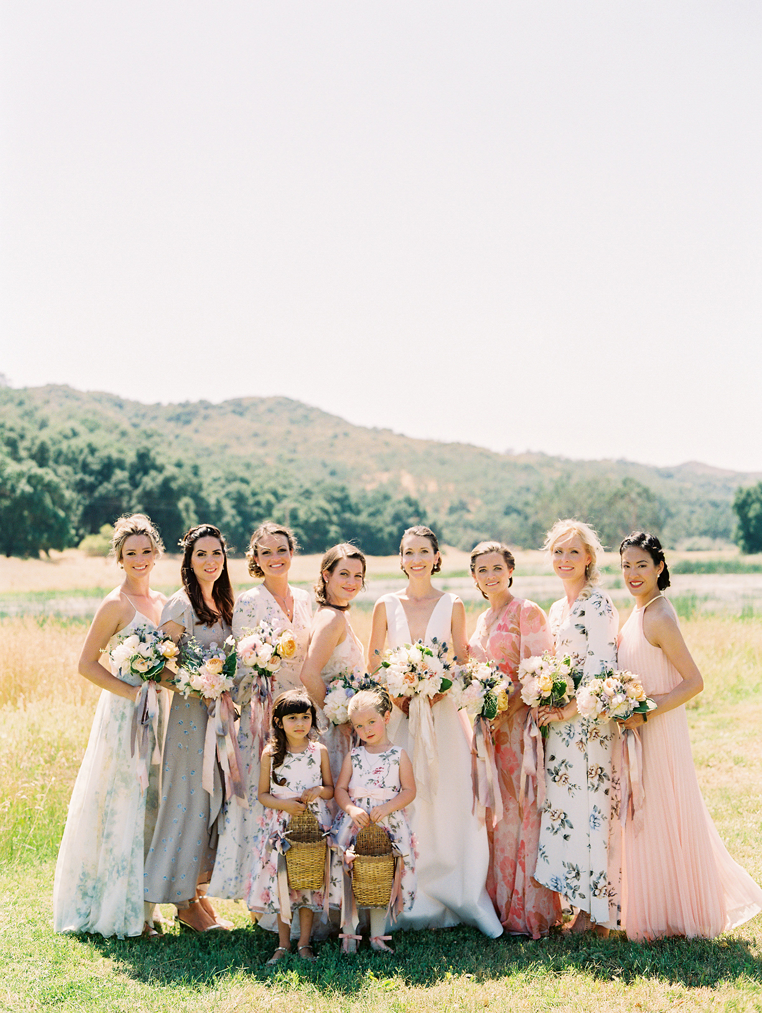 caitlin amit wedding bride with bridesmaids