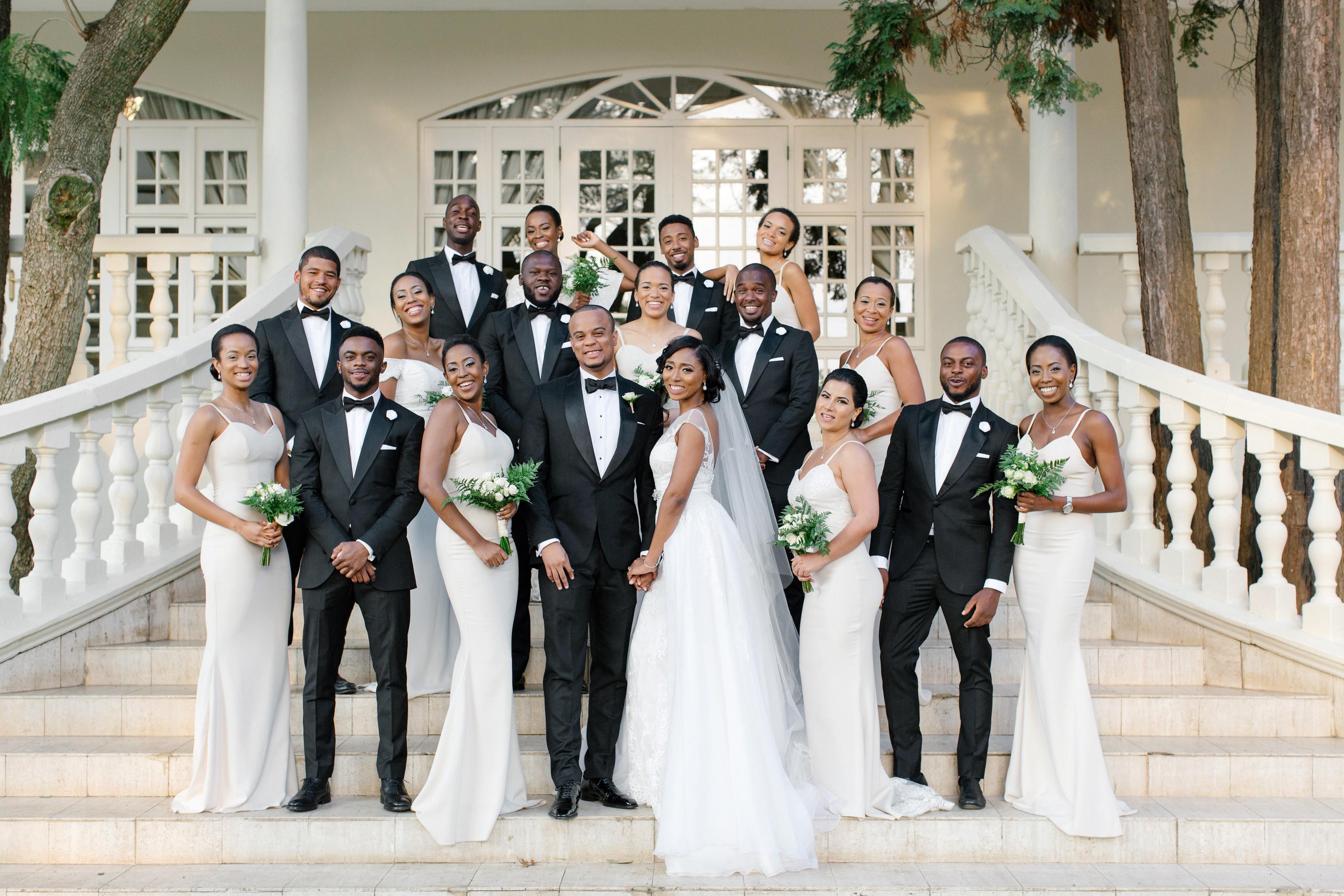 chloe shayo south africa wedding bridal party steps